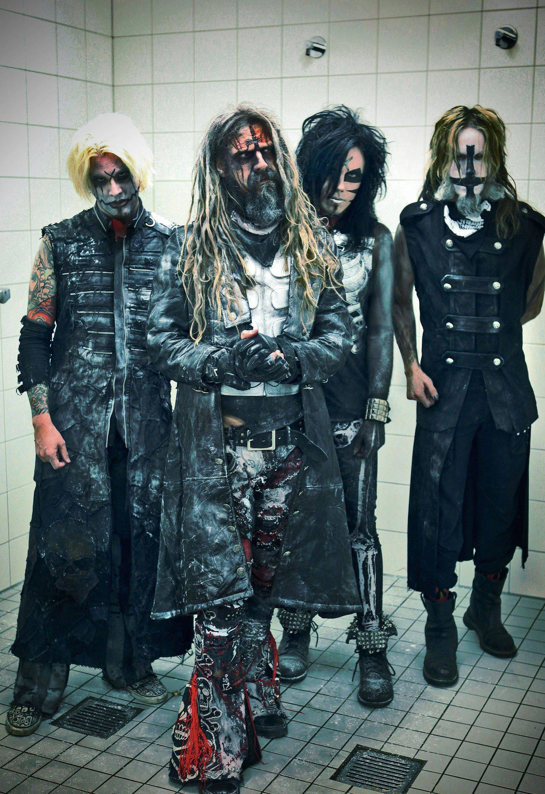 Rob Zombie will be a co-headliner alongside Marilyn Manson on Thursday, Oct. 11, when the Twins of Evil Tour stops at the Allstate Arena in Rosemont. Pictured left to right are band members John5, Zombie, Piggy D and Ginger Fish.
