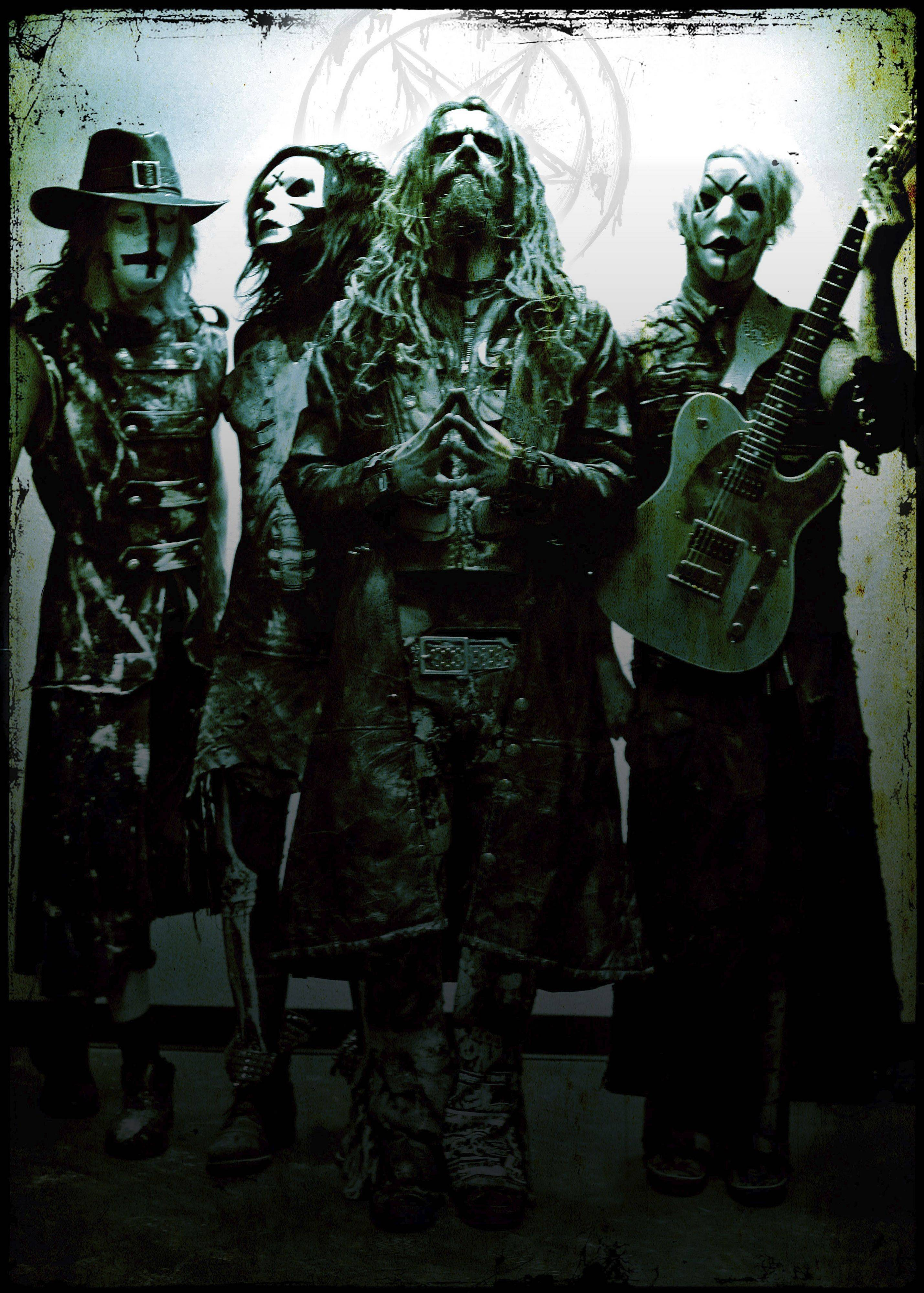 Rob Zombie will be a co-headliner alongside Marilyn Manson on Thursday, Oct. 11, when the Twins of Evil Tour stops at the Allstate Arena in Rosemont. Pictured left to right are band members Ginger Fish, Piggy D, Zombie and John5.