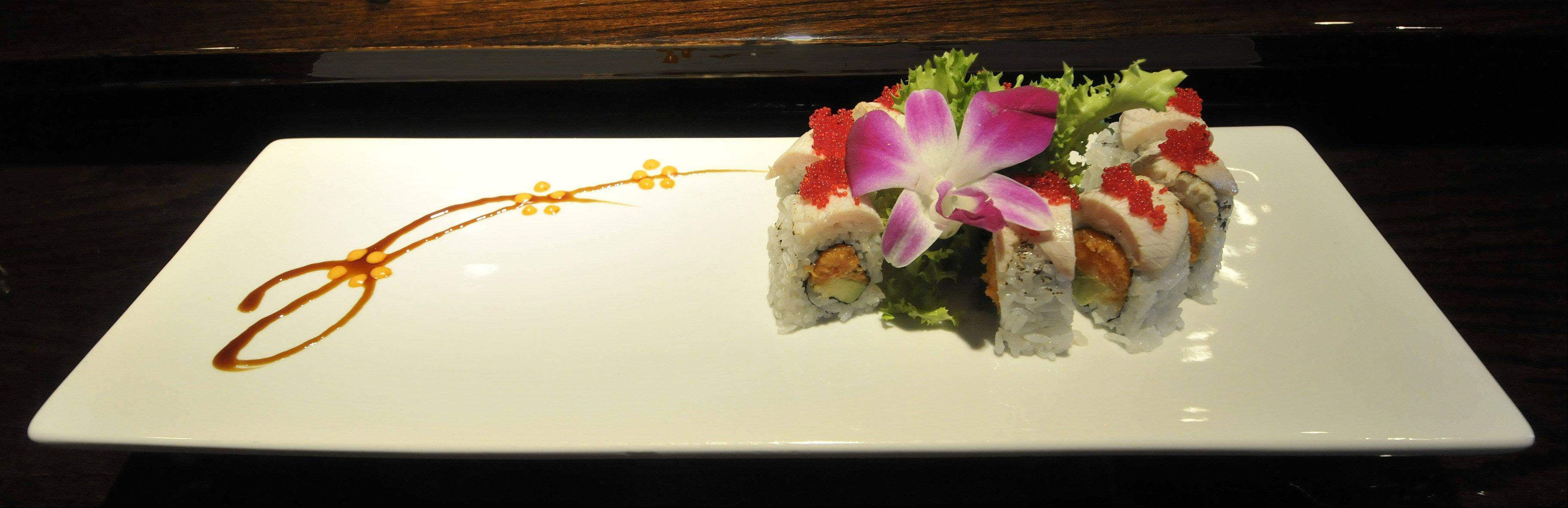 A variety of fancy sushi creations, including the Bulls Roll, are on the menu at Dao.