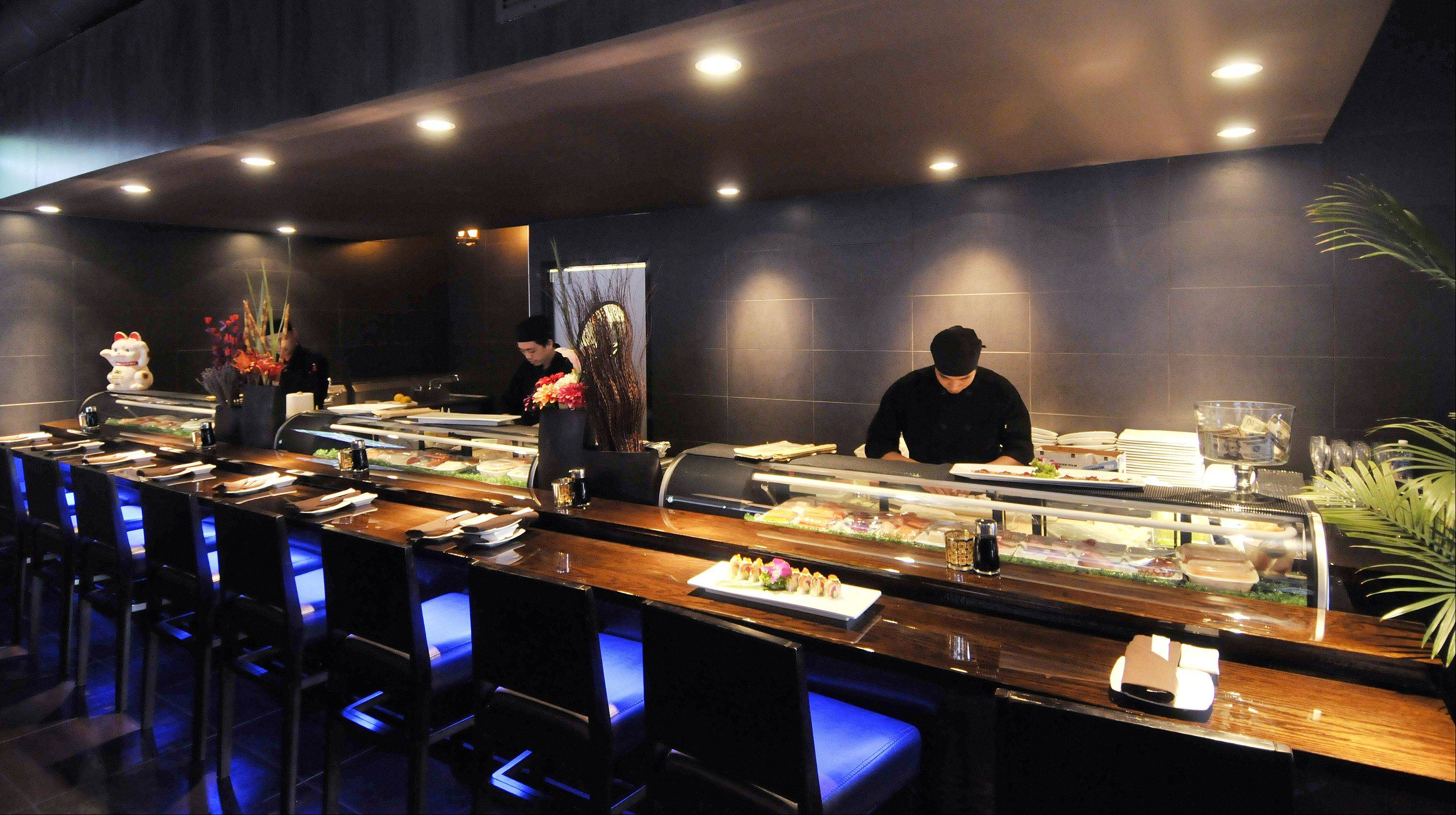 The sushi bar is a centerpiece at Dao in Oakbrook Terrace.