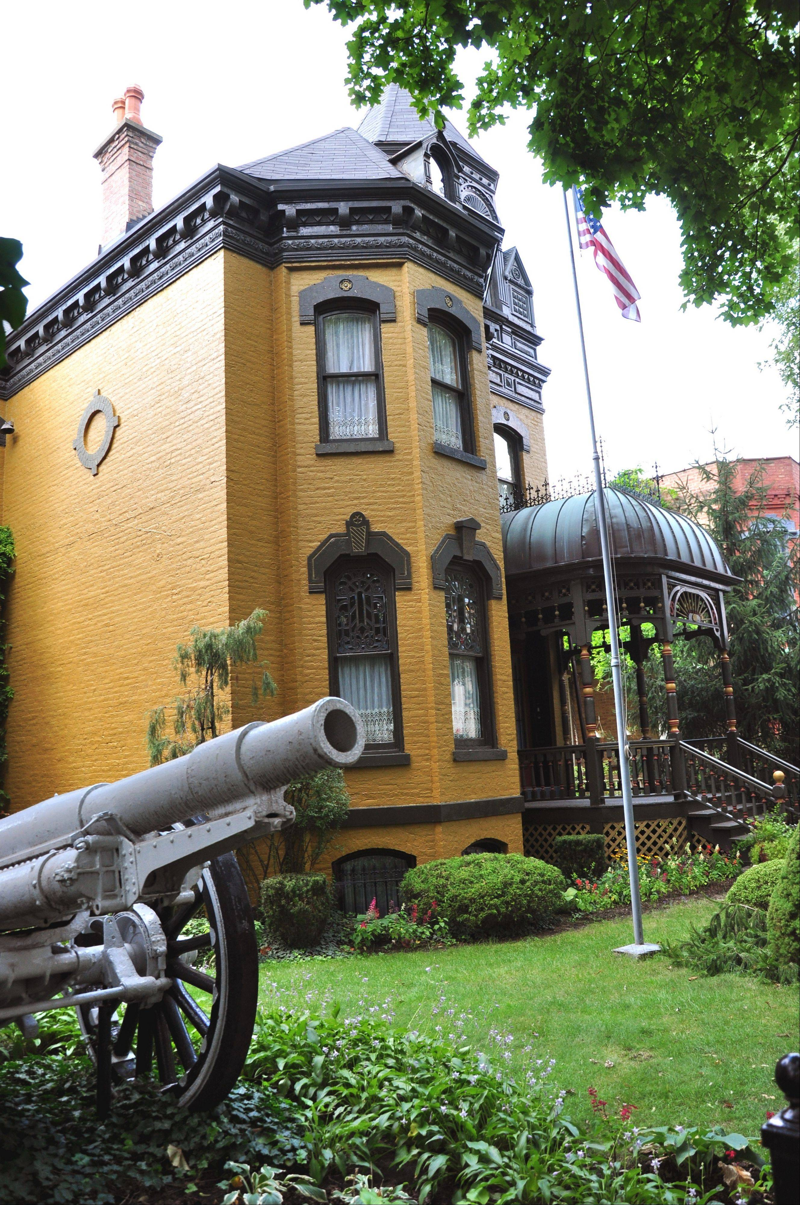 An 1877 Wicker Park mansion was an American Legion hall at one time and still has a1902 cannon on its side lawn.