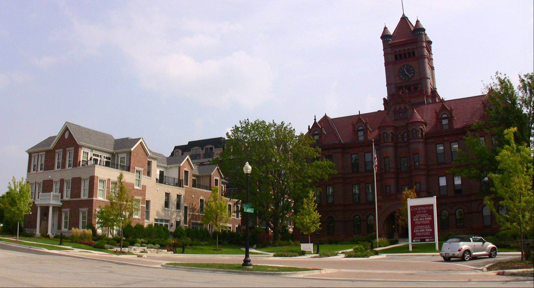 A plan to add senior housing to the Courthouse Square project in downtown Wheaton is sparking heated debate and a lawsuit by some residents.