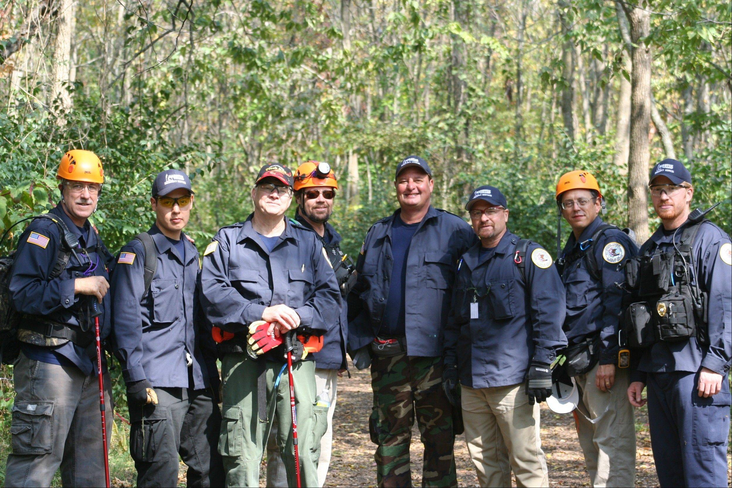 The Hanover Township Search and Rescue team following completion of their validation full search exercise.