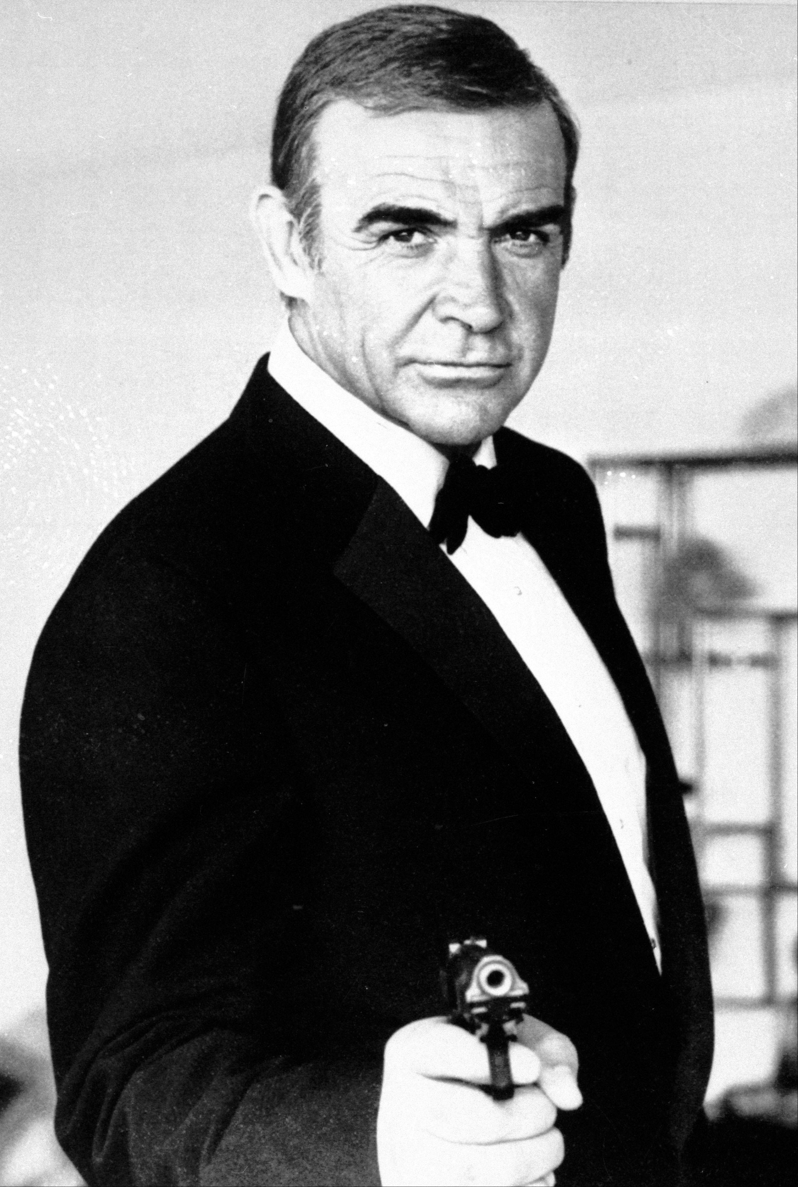 This undated file photo shows Sean Connery as James Bond in �Never Say Never Again.� The film �Never Say Never Again,� a 1983 remake of �Thunderball,� has its ironic title because it brought Connery back as Bond after a 12-year hiatus.