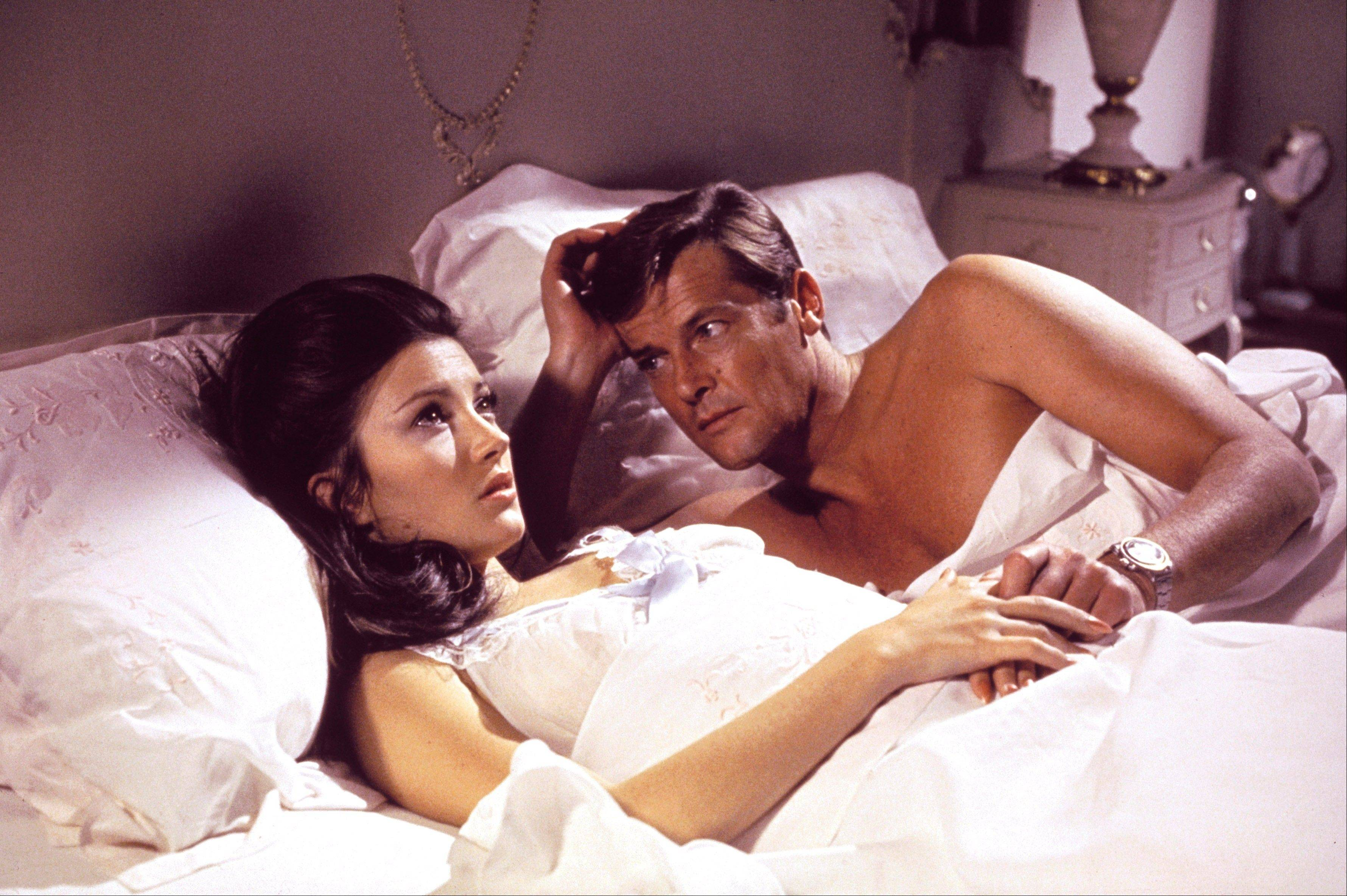 "Jane Seymour, left, and Roger Moore, in the James Bond 1973 film, ""Live and Let Die."""