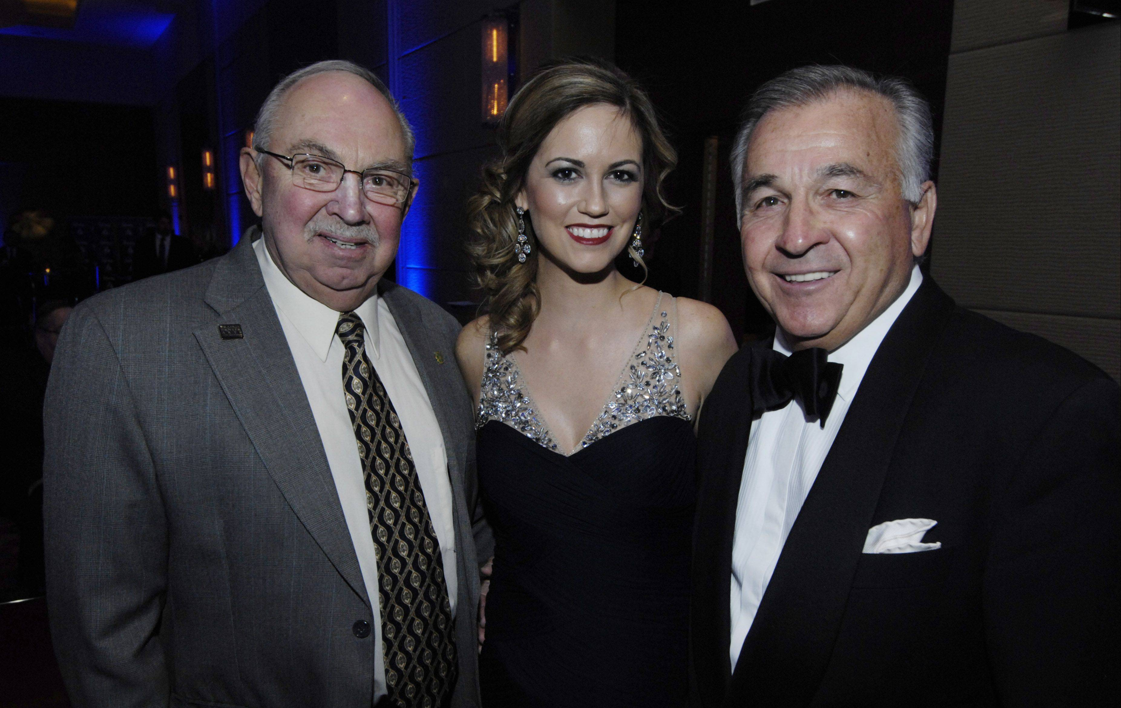 Left to right, Mayor Al Larson, Schaumburg Business Association President Kaili Harding and SBA Chairman of the Board Rich Augustine are shown during the SBA gala and awards Saturday at the Renaissance Convention Center Hotel.
