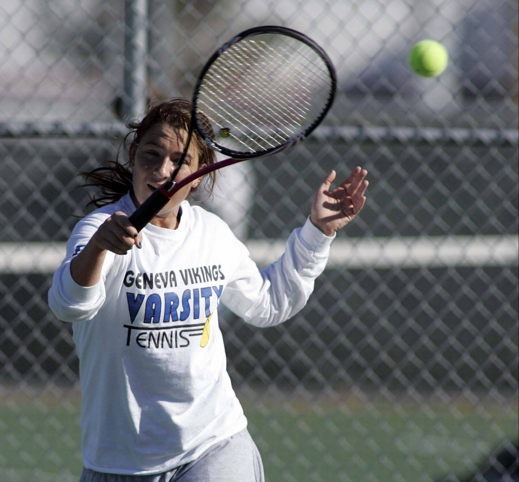 Geneva's Kirby Einck won the No. 1 singles title.