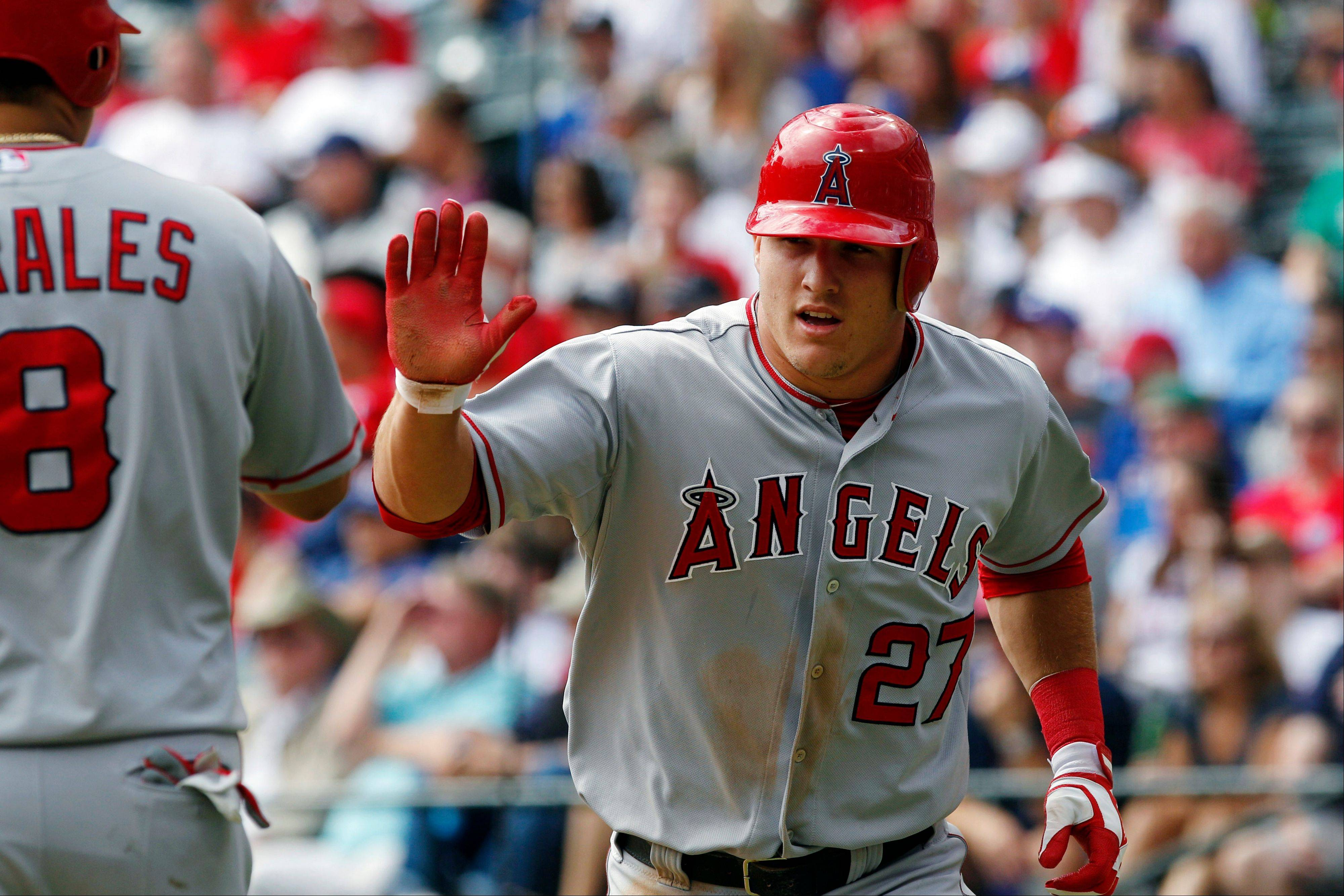 The Angels' Mike Trout may very well beat out the Tigers' Miguel Cabrera for AL MVP.