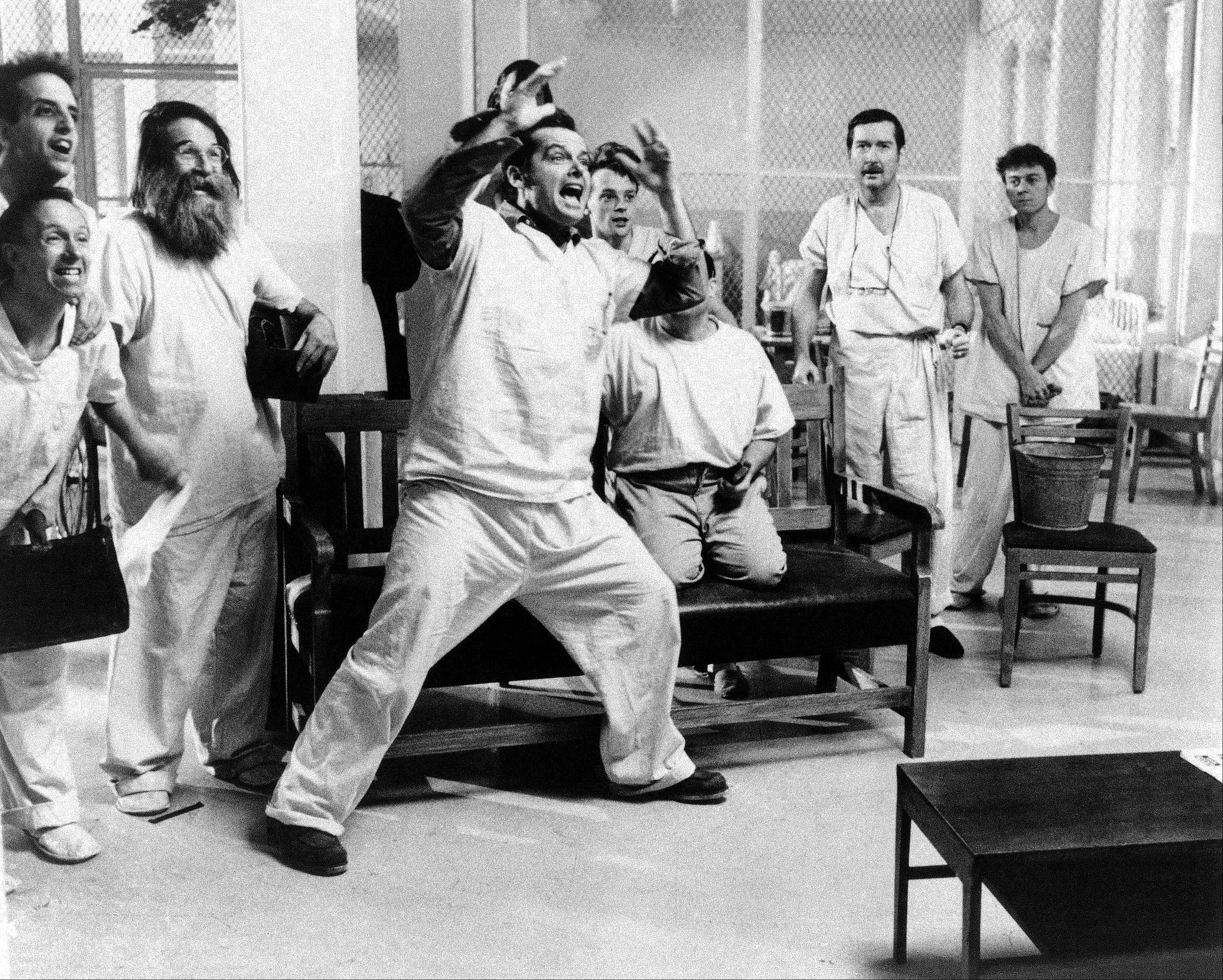 "In a in Nov. 1975 file photo provided by United Artists, actor Jack Nicholson is shown in a scene from the movie ""One Flew Over The Cuckoo's Nest""."