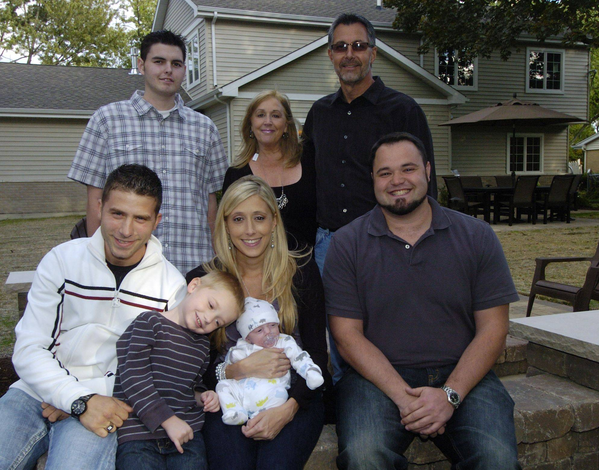 The Zeecks have a full house these days. Front row, left to right, Thomas Walrod and Michelle Zeeck and their sons, Vincent and Dominic, and Michelle's brother, Mike Zeeck. Back row, John Zeeck with his parents, Sharon and Harry Zeeck.