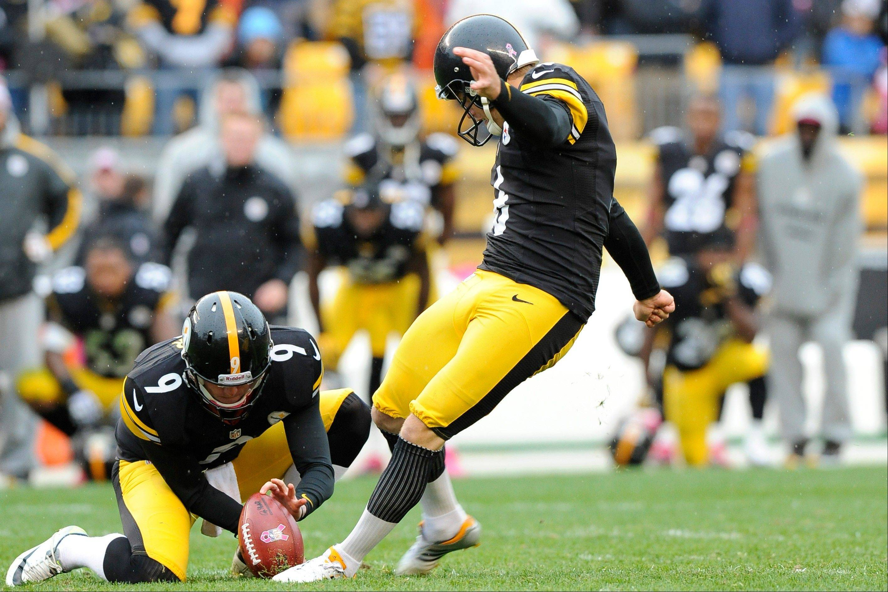 Steelers kicker Shaun Suisham boots 34-yard field goal to beat Philadelphia as time runs out Sunday in Pittsburgh.