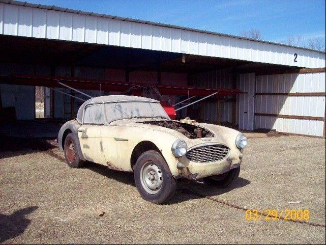 By the time of its purchase by Tom Soerens and his wife, JoEllen, in 2008, the Austin Healy had been stored in an airplane hangar for years.
