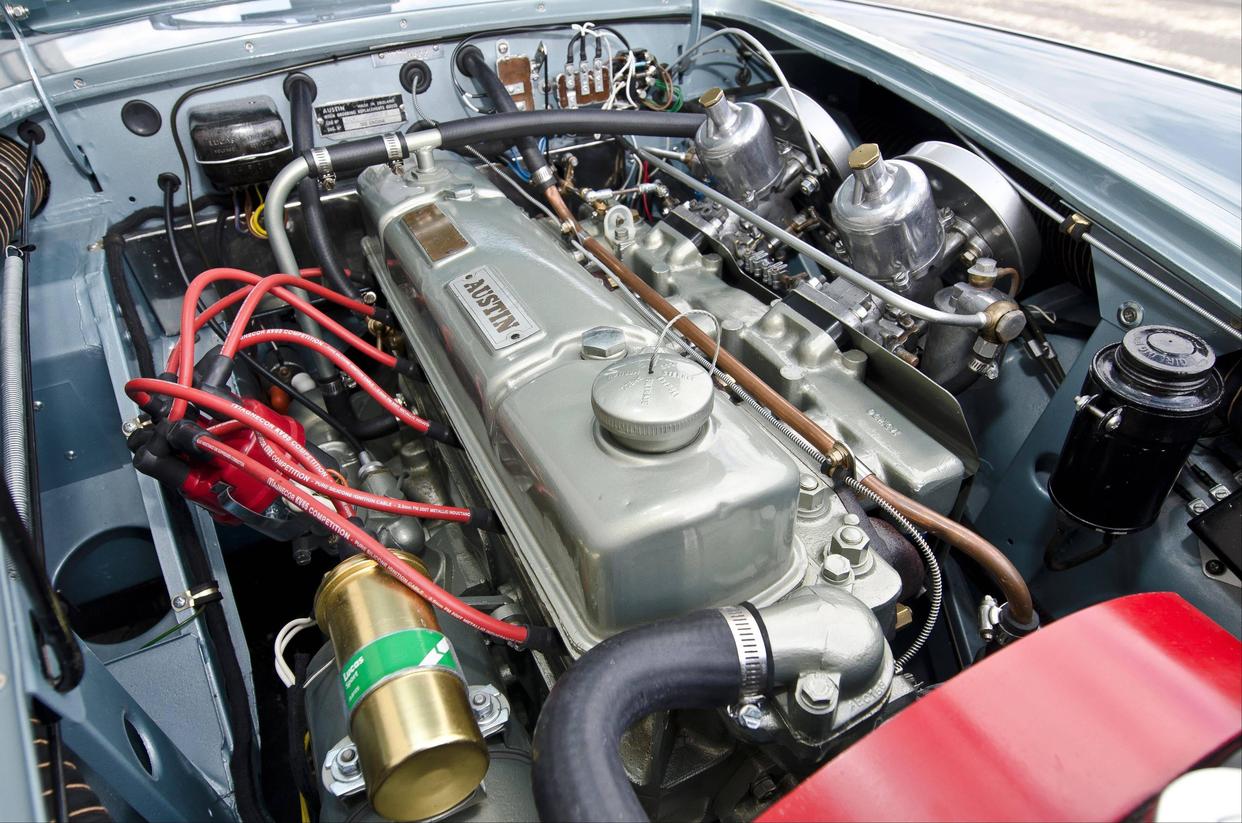 The factory inline 161-cubic-inch, six-cylinder engine is mated to a four-speed manual transmission.