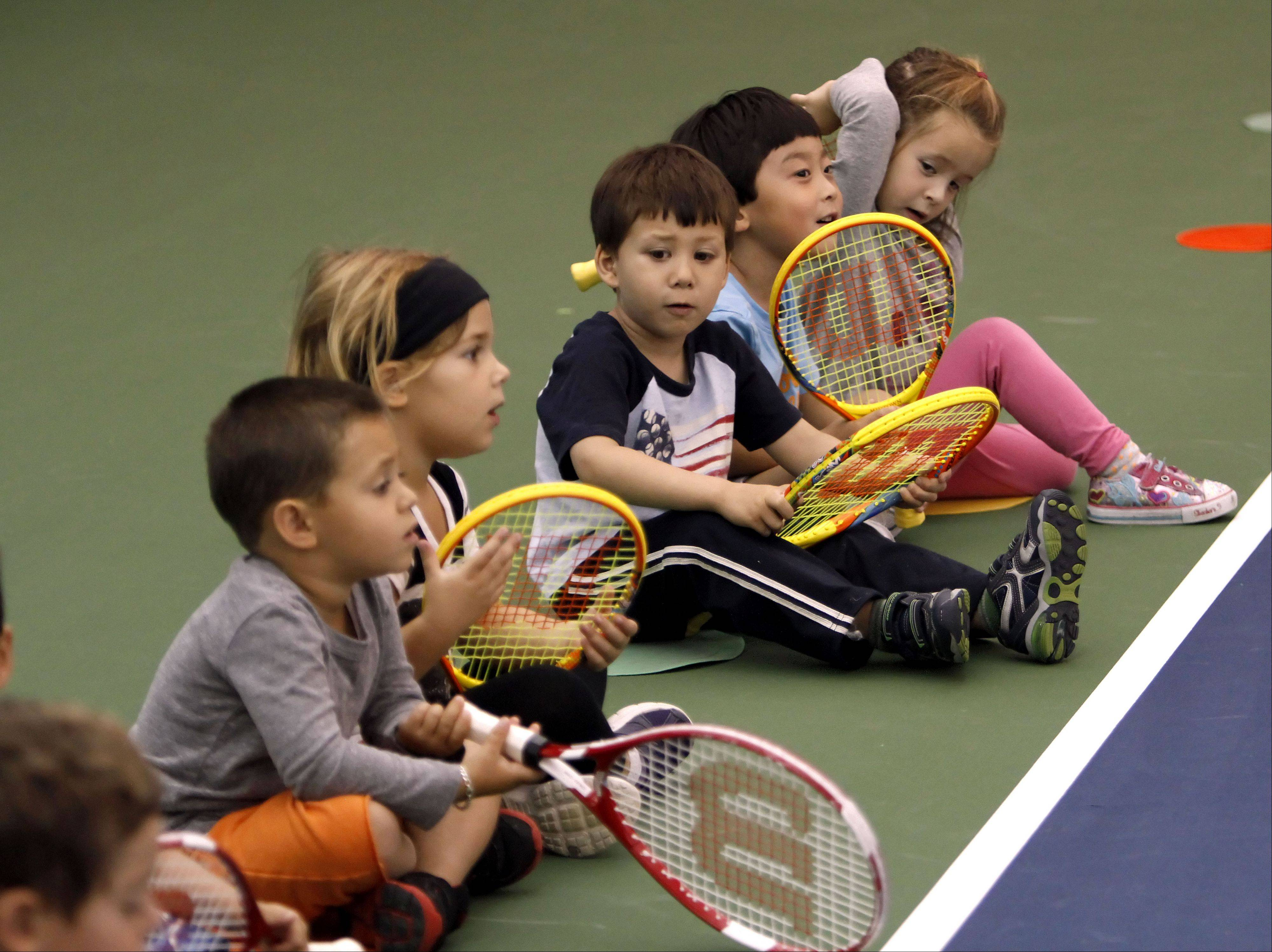 Midtown Athletic Club in Bannockburn holds Tennis Explorers, a tennis program for toddlers that blends physical activities, tennis skills and storytelling in an on-court environment.