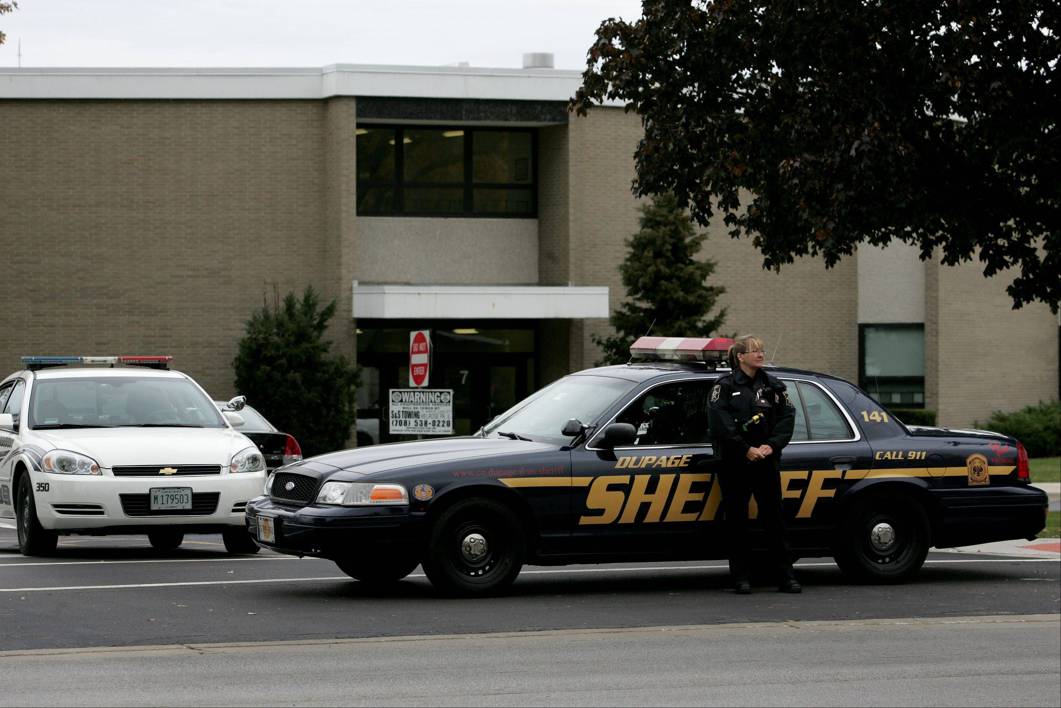 Indian Trail Junior High was on lockdown Friday after a false report about a student being restrained by an intruder in a restroom.