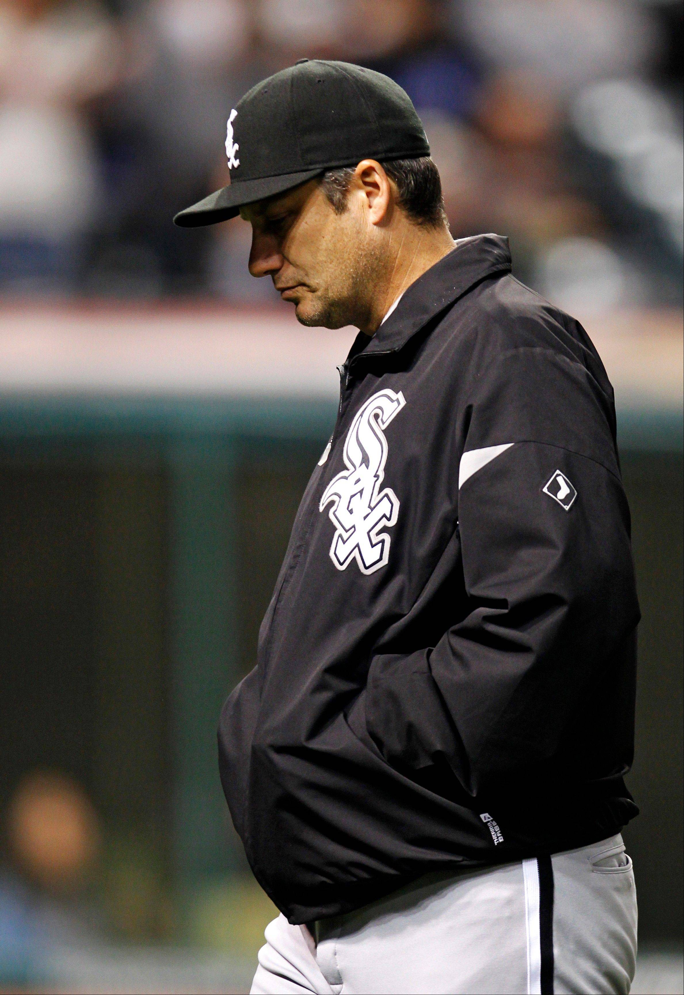 White Sox manager Robin Ventura walks back to the dugout during the final game of the season last week.