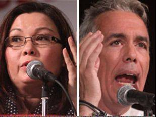 United States 8th Congressional District candidates Republican Joe Walsh and Democrat Tammy Duckworth debated at the Meadows Club in Rolling Meadows on Tuesday night.