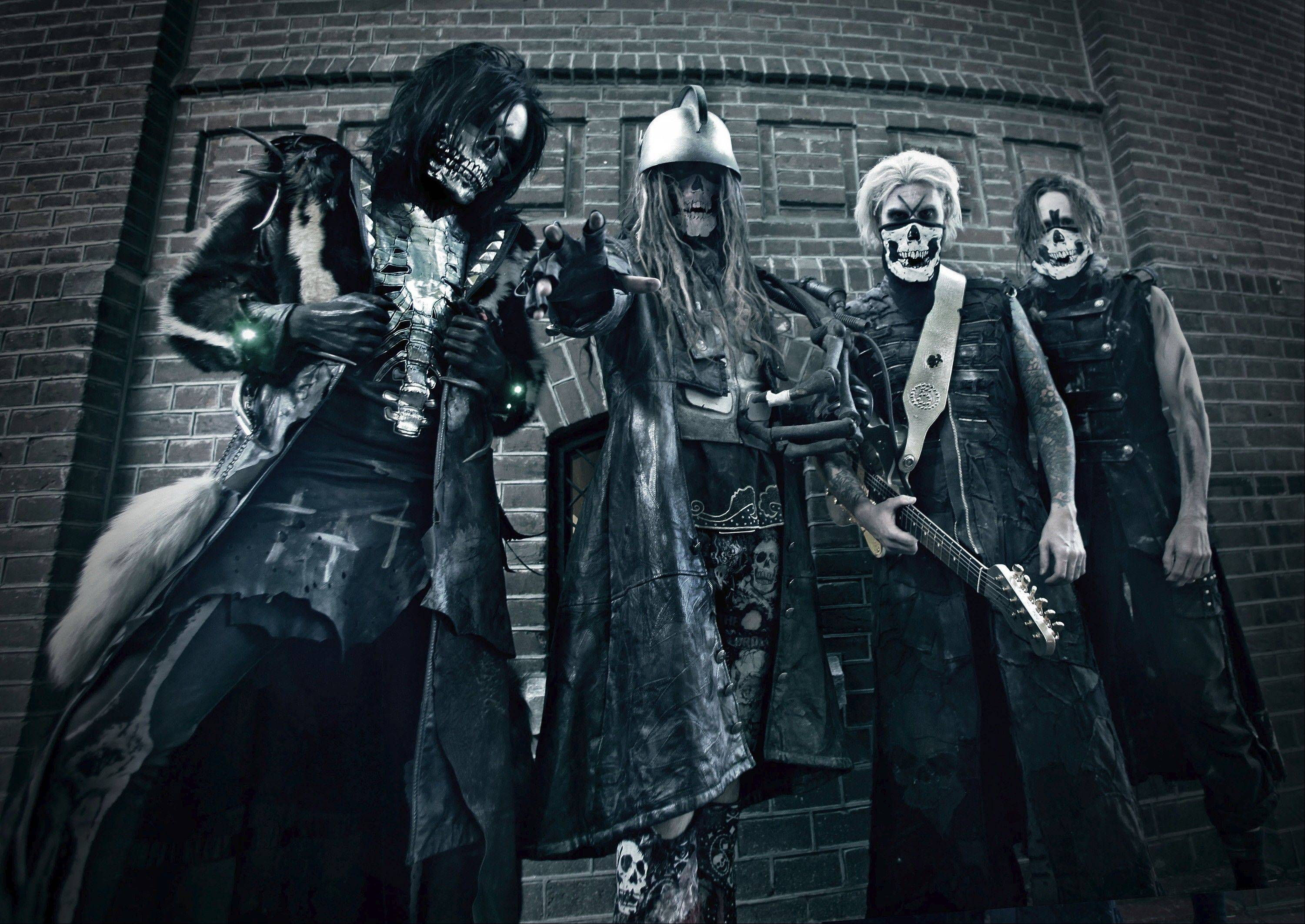 Rob Zombie will be a co-headliner alongside Marilyn Manson on Thursday, Oct. 11, when the Twins of Evil Tour stops at the Allstate Arena in Rosemont. Pictured left to right are band members Piggy D, Zombie, John5 and Ginger Fish.