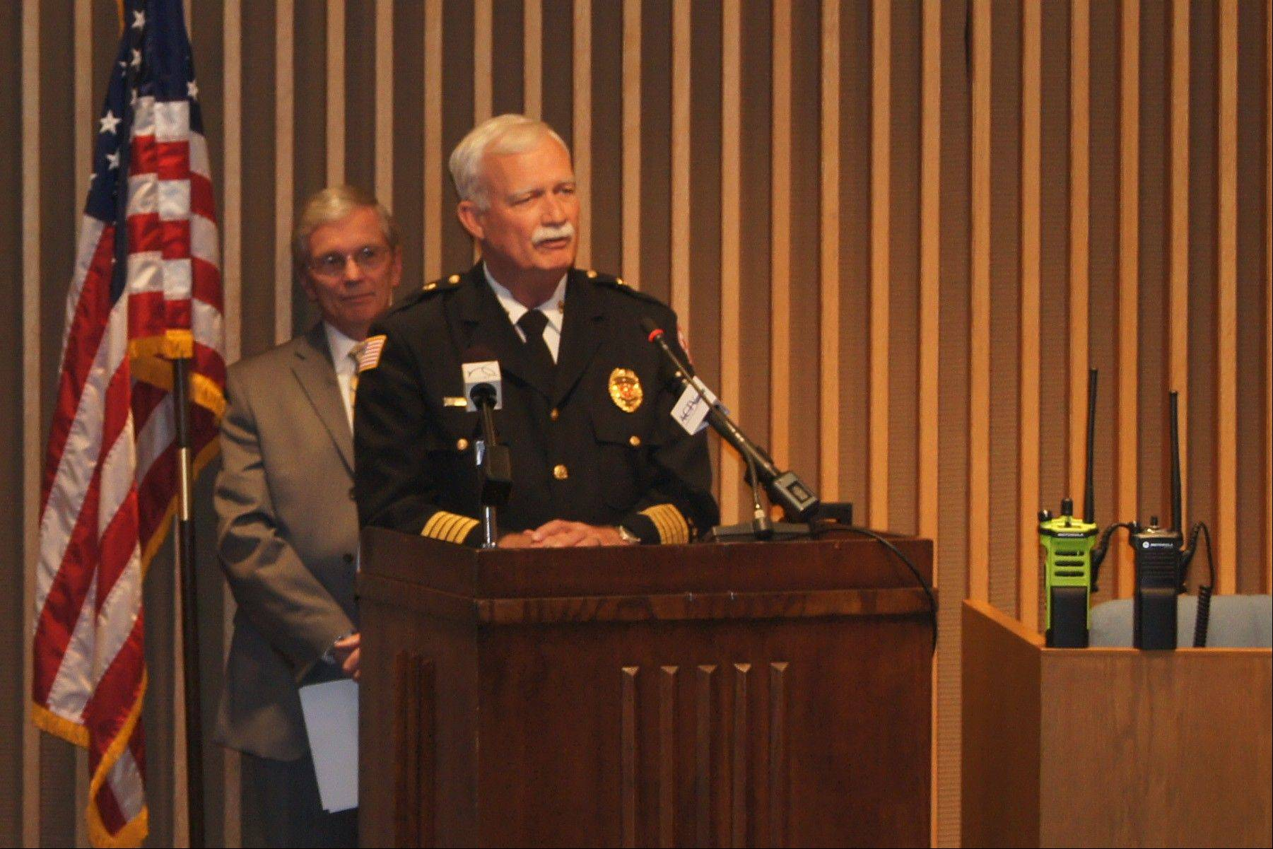 Wheaton Fire Chief Gregory Berk praised the new radio system Tuesday.