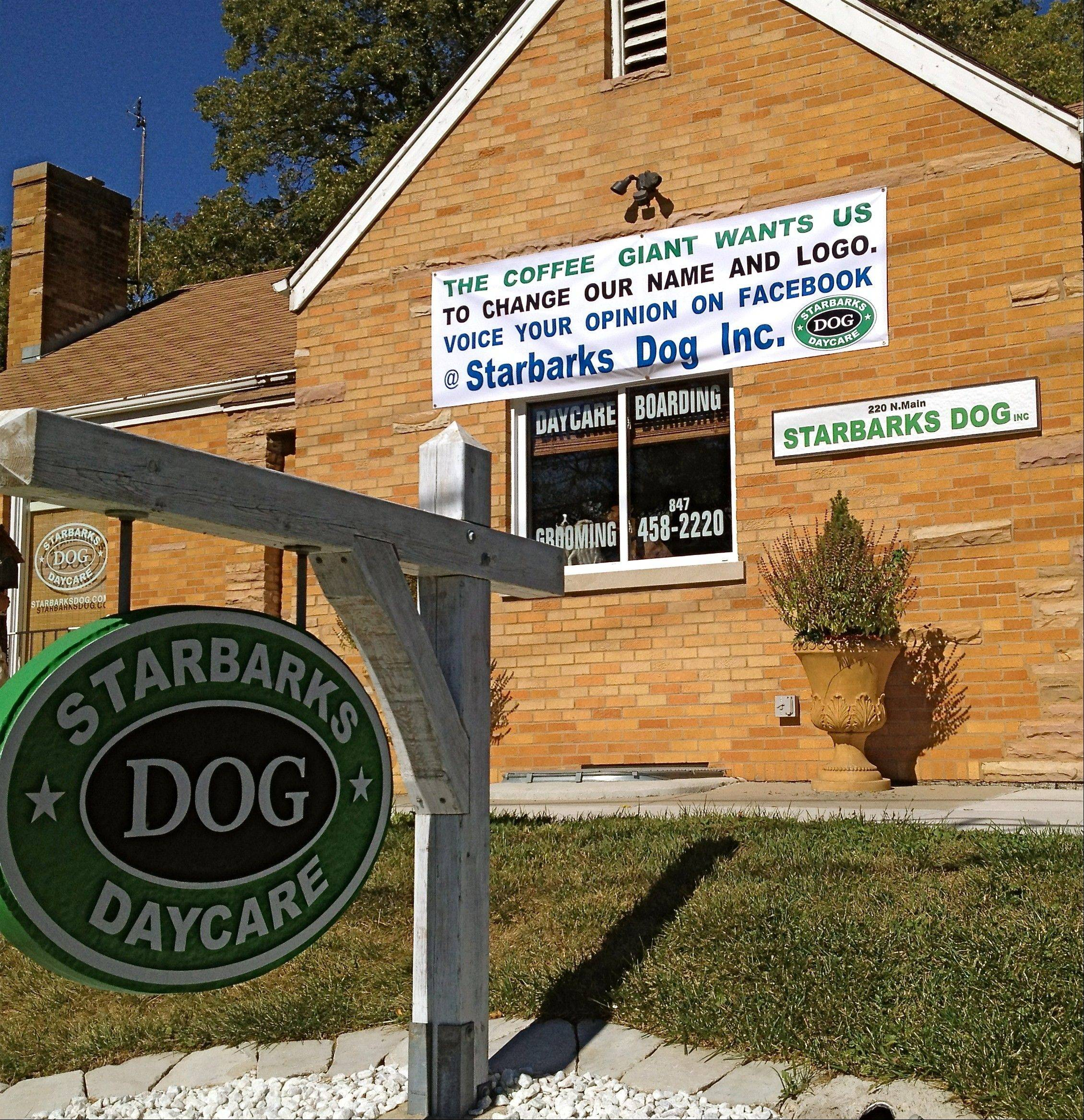 This Algonquin dog service is in the trademark doghouse. Coffee giant Starbucks is requesting the owners stop using the Starbarks name and logo.