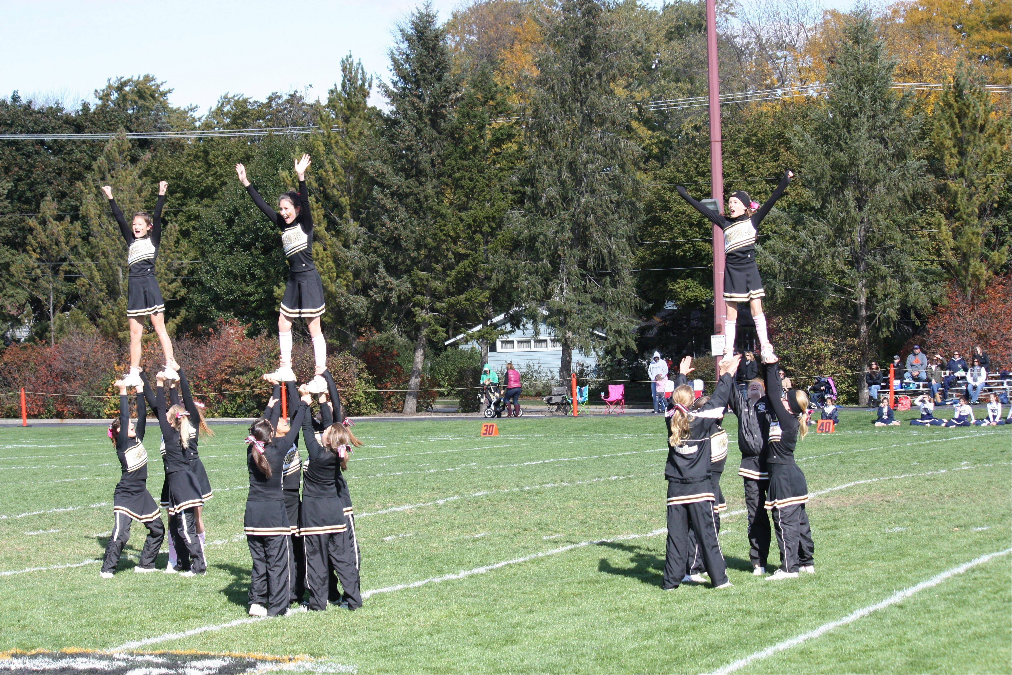 The Spirit Squad performs during homecoming weekend Oct. 6-7 in Palatine.