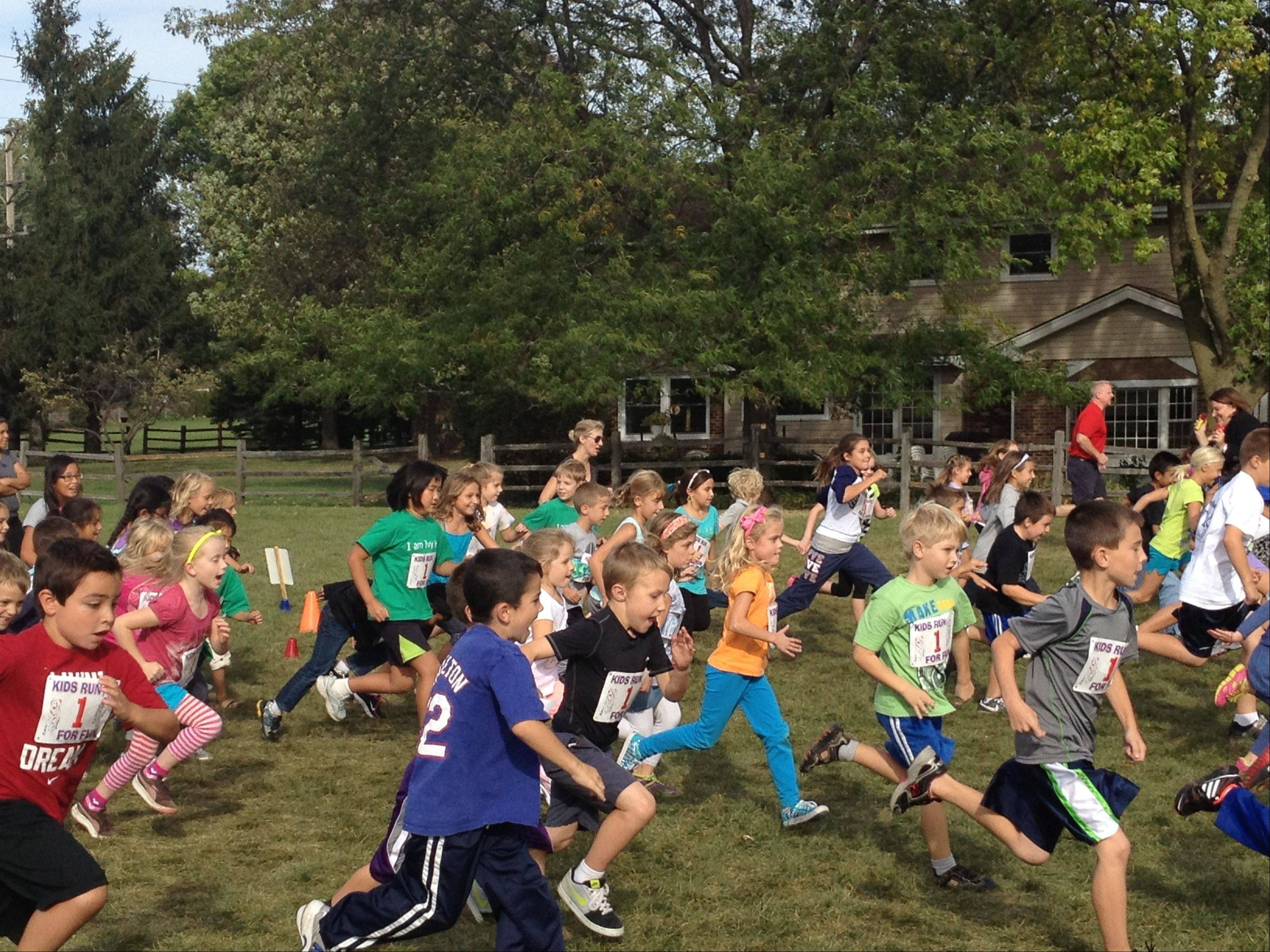 Students of Ivy Hill Elementary School, Arlington Heights, raised money for Special Olympics with a Fun Run Sept. 21.