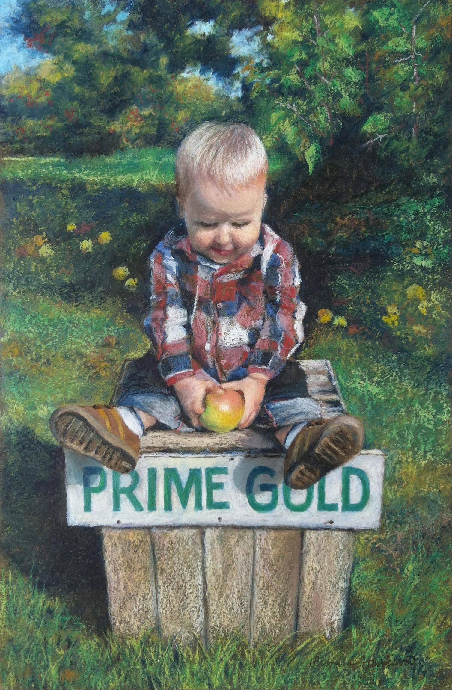 """Prime Gold,"" an original oil pastel by Pam Hamilton of Geneva."