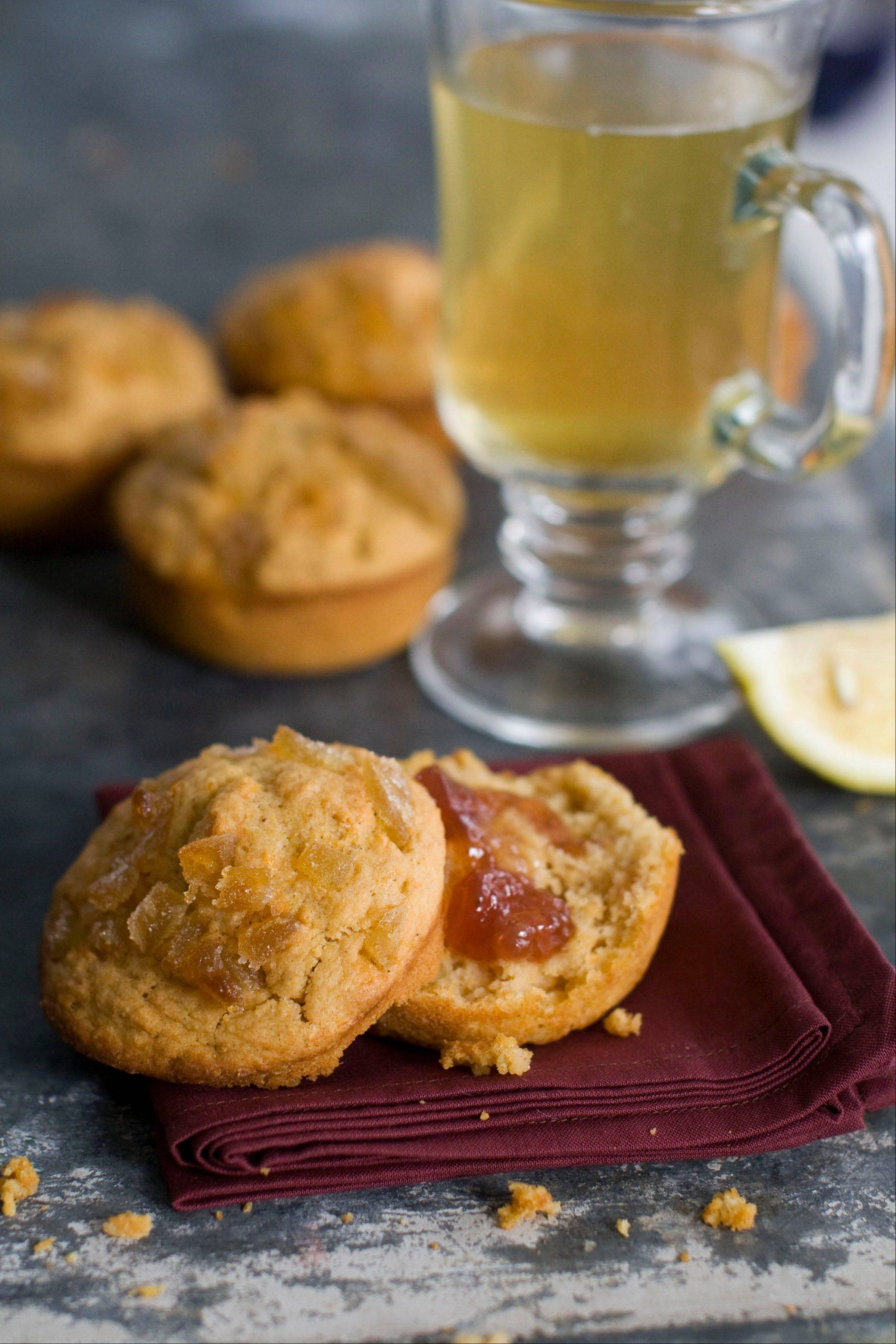 Sweet Potato Buttermilk Muffins with Candied Ginger