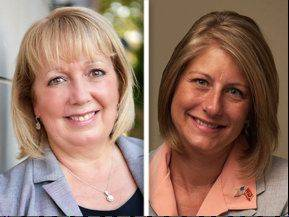 Republican Pat Fee, left, opposes Democrat Stephanie Kifowit for the 84th state House District in the Nov. 6 election.