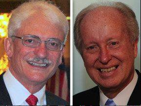 Republican Don Castella, left, is challenging Democratic incumbent Terry Link in the 30th state Senate District race.