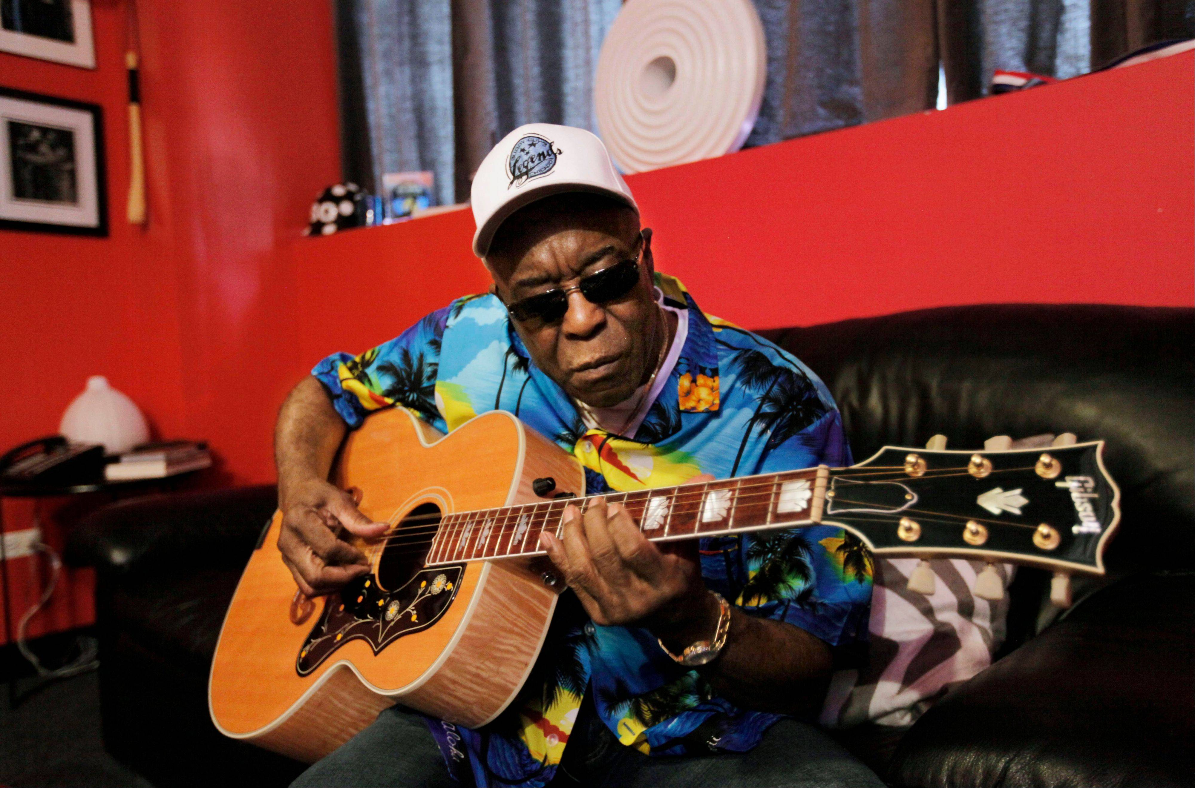 Musician Buddy Guy, 76, still tours, playing internationally and as many as 16 shows a month.