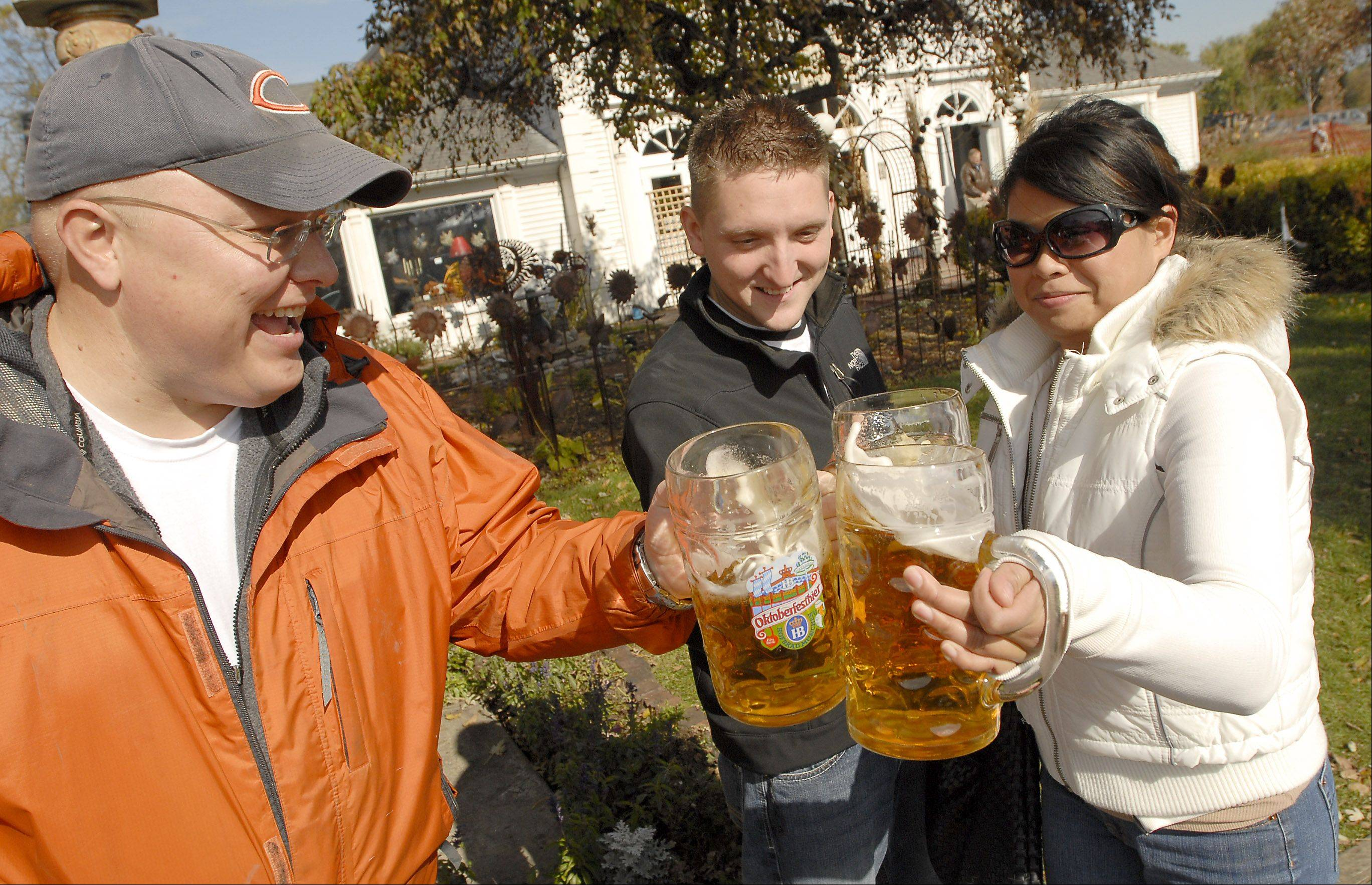 German beer and food are part of the fun at Long Grove's annual Oktoberfest.