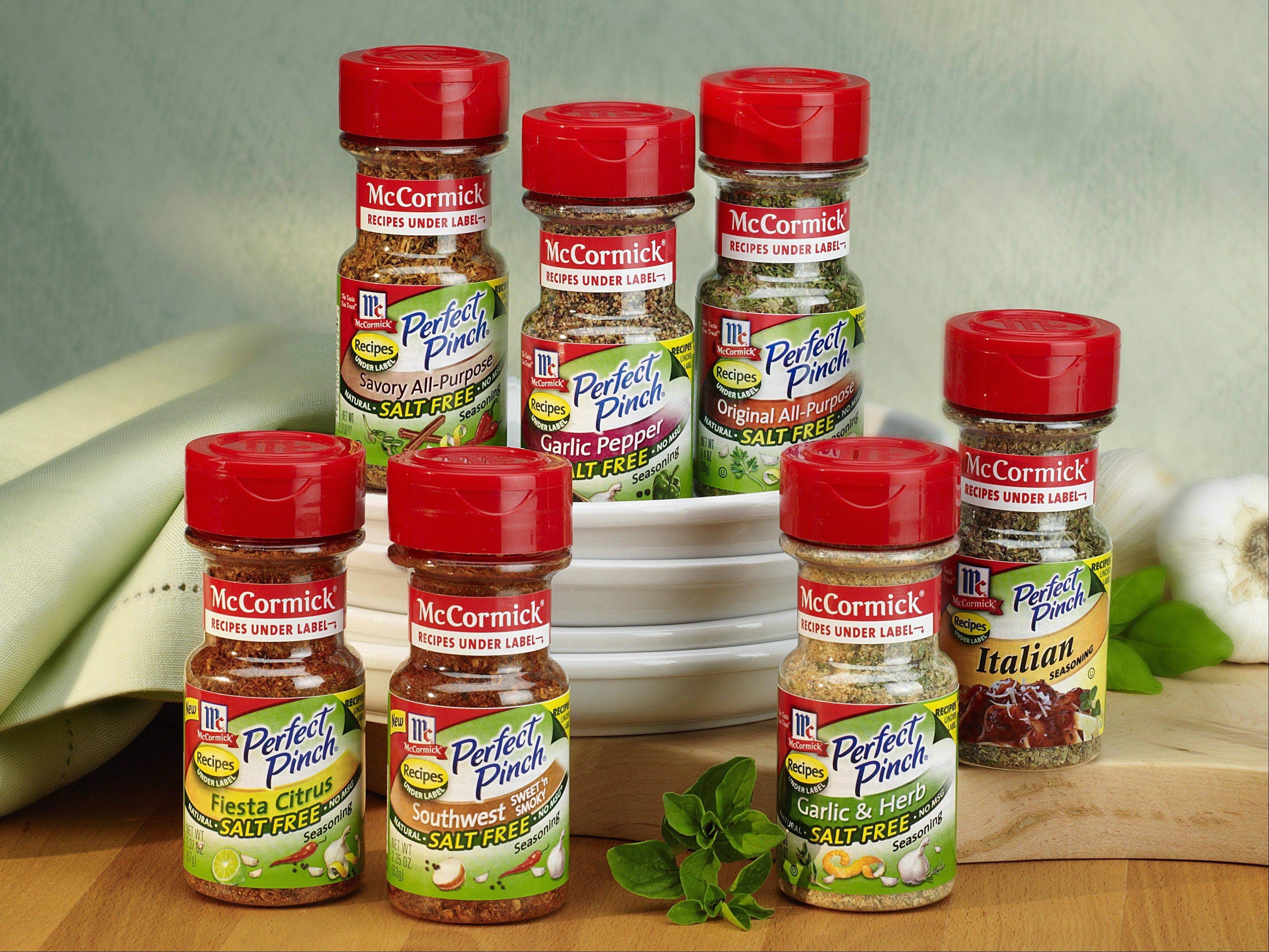 McCormick Perfect Pinch is a line of salt-free spice blends.