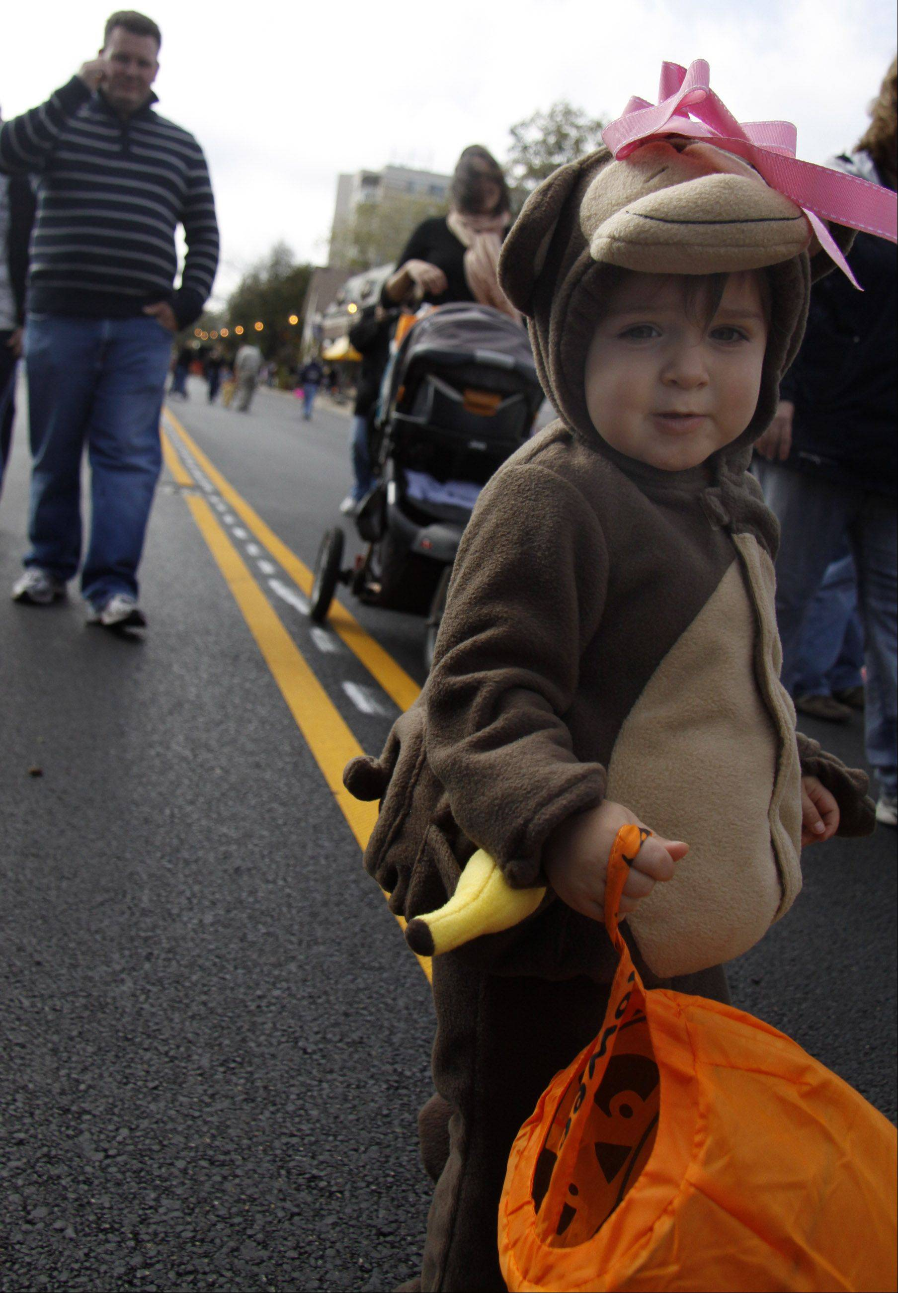 Kids can trick-or-treat at the shops of downtown Lombard from noon to 3 p.m. during the annual Spooktacular Fall Festival Sunday, Oct. 14, at St. Charles Road and Park Avenue.