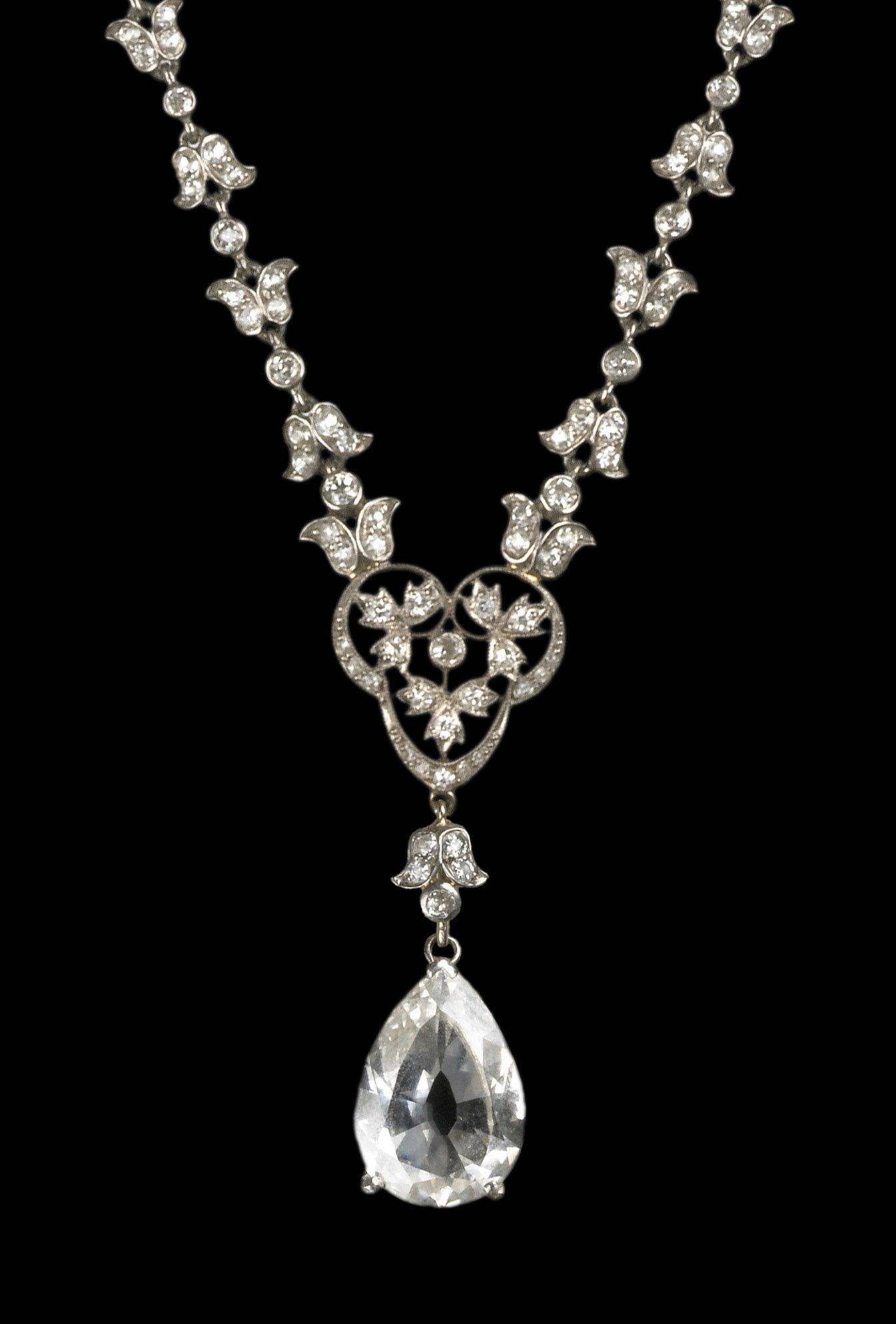 Visitors to The Field Museum's Grainger Hall of Gems can marvel at this diamond and platinum necklace, circa 1914.