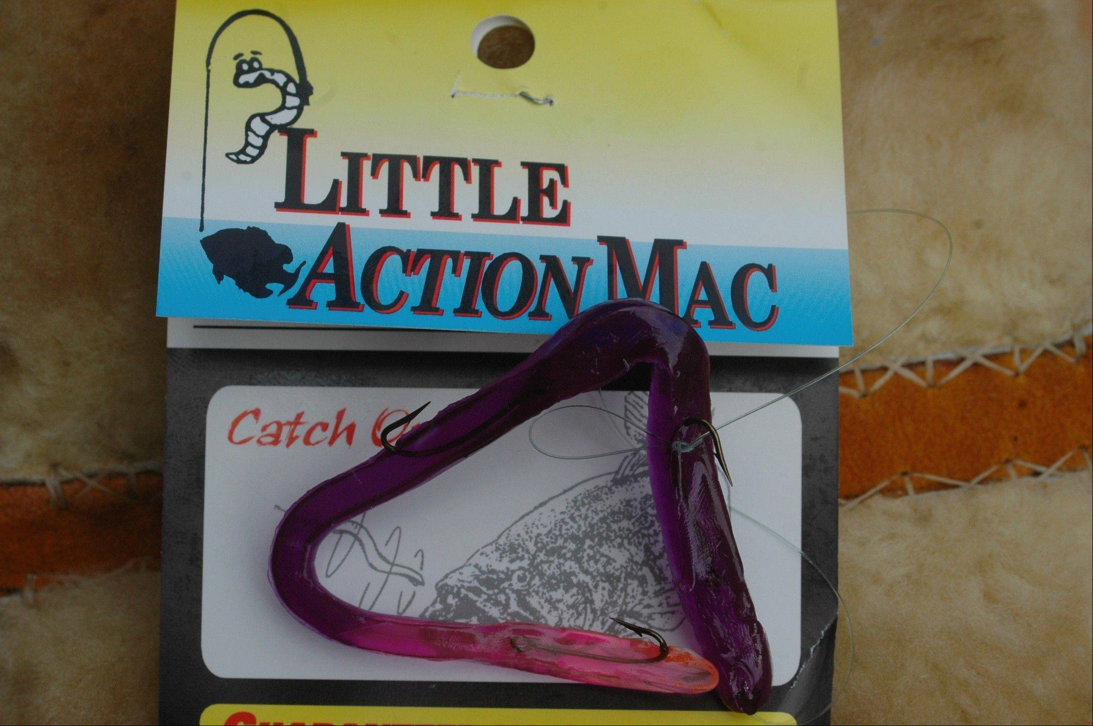 File photoMike Jackson's tackle box always has some Little Action Mac baits in it.