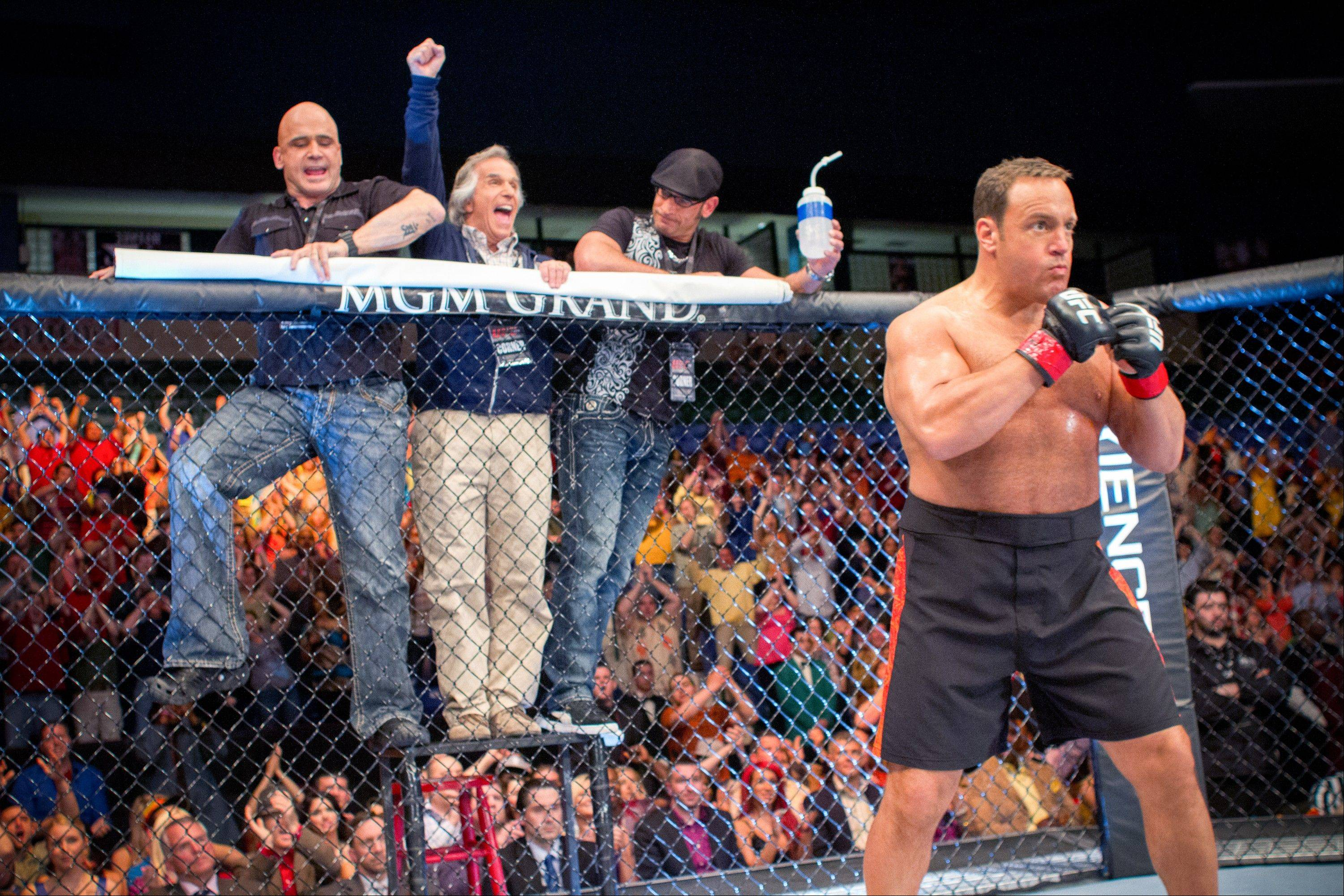 "A science teacher (Kevin James) enters the ring as a mixed martial arts fighter to earn money for his cash-strapped school in ""Here Comes the Boom."""