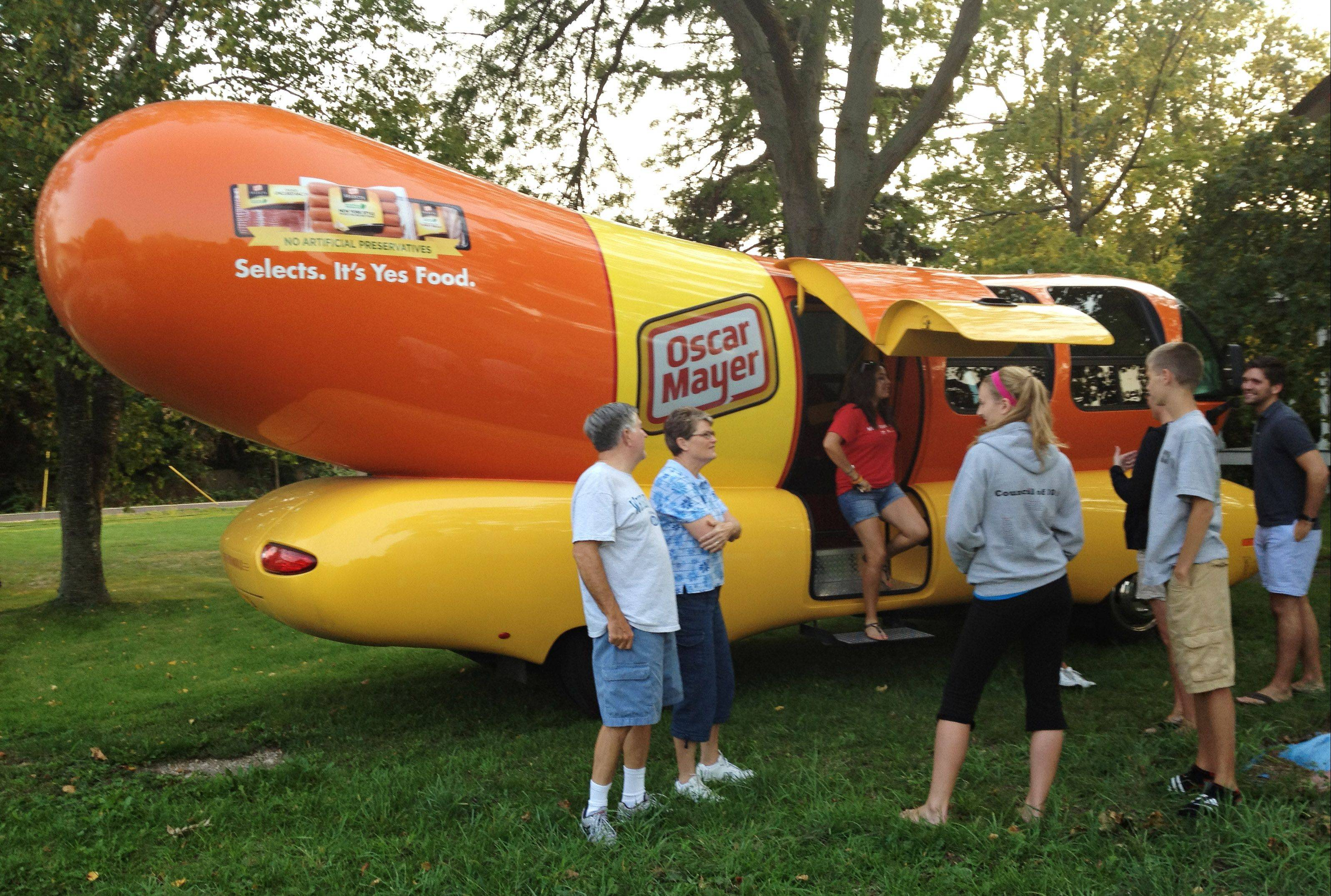 The Wienermobile made a recent stop in Batavia and people immediately came to see the iconic promotional vehicle.