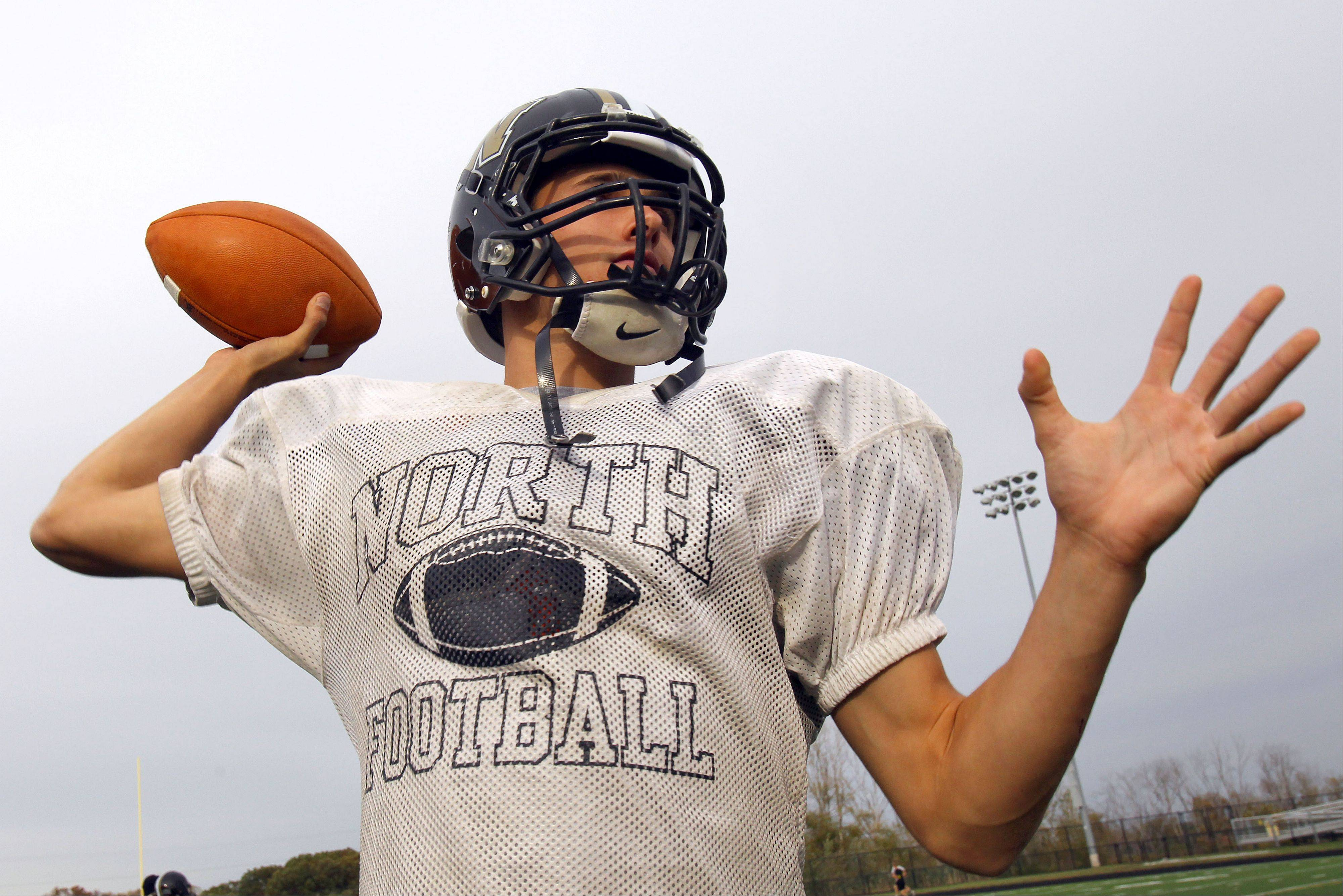 Grayslake North quarterback A.J. Fish has made a verbal commitment to play lacrosse at Virginia.