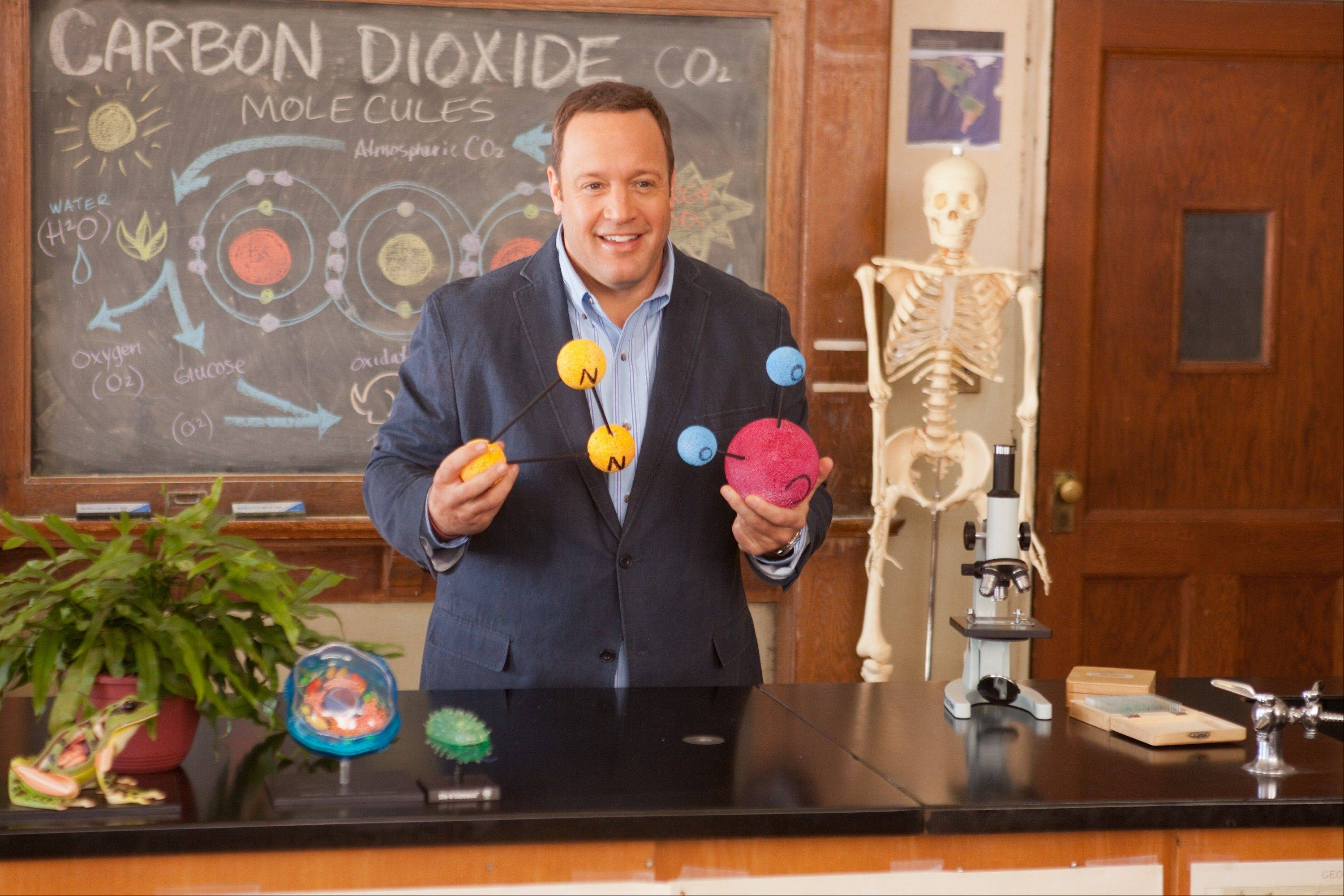 "A science teacher (Kevin James) hatches a crazy plan to raise money for his school in the comedy ""Here Comes the Boom."""