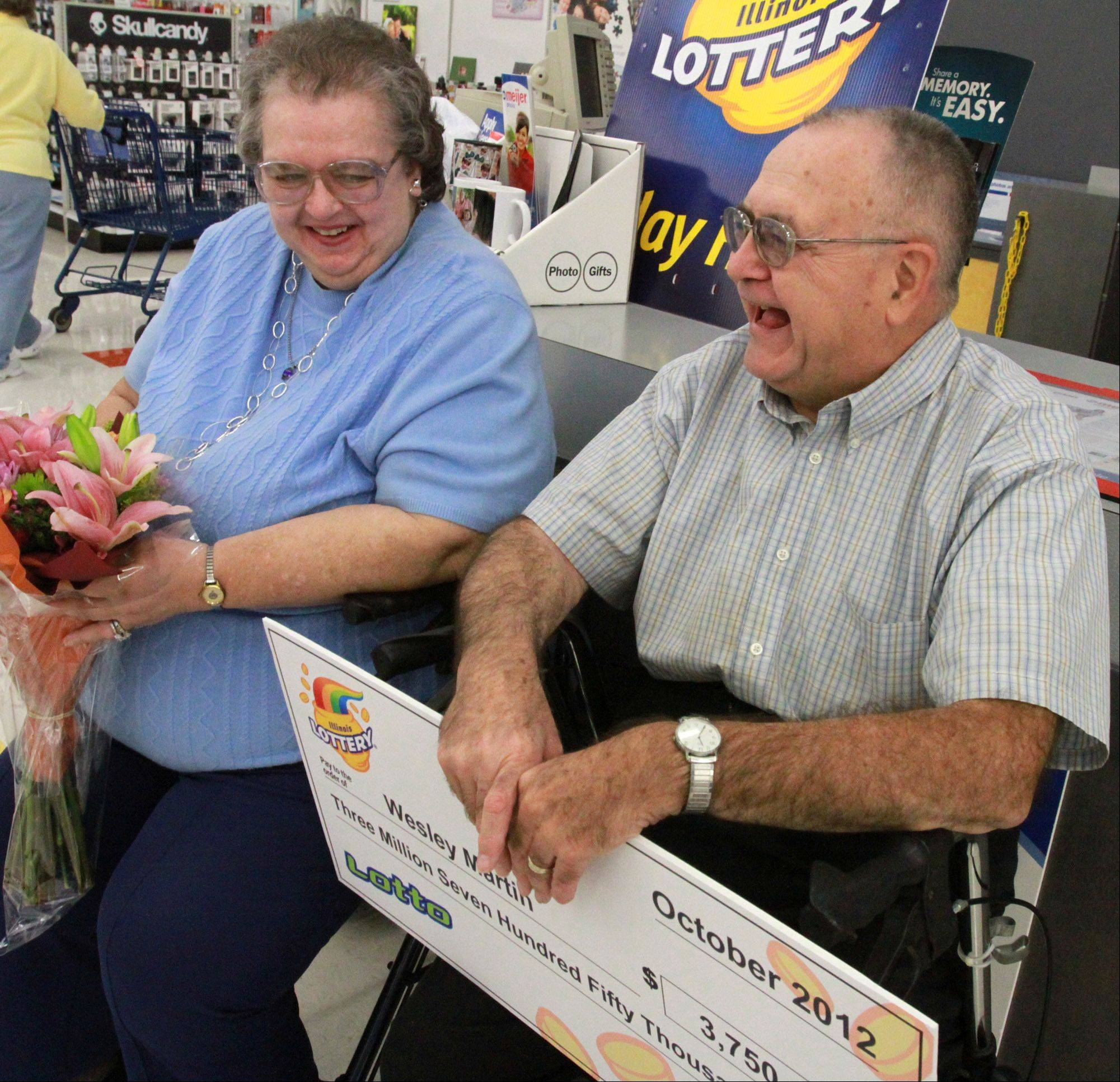 Margaret and Wesley Martin of Palatine were the toast of Meijer on Thursday in Rolling Meadows.