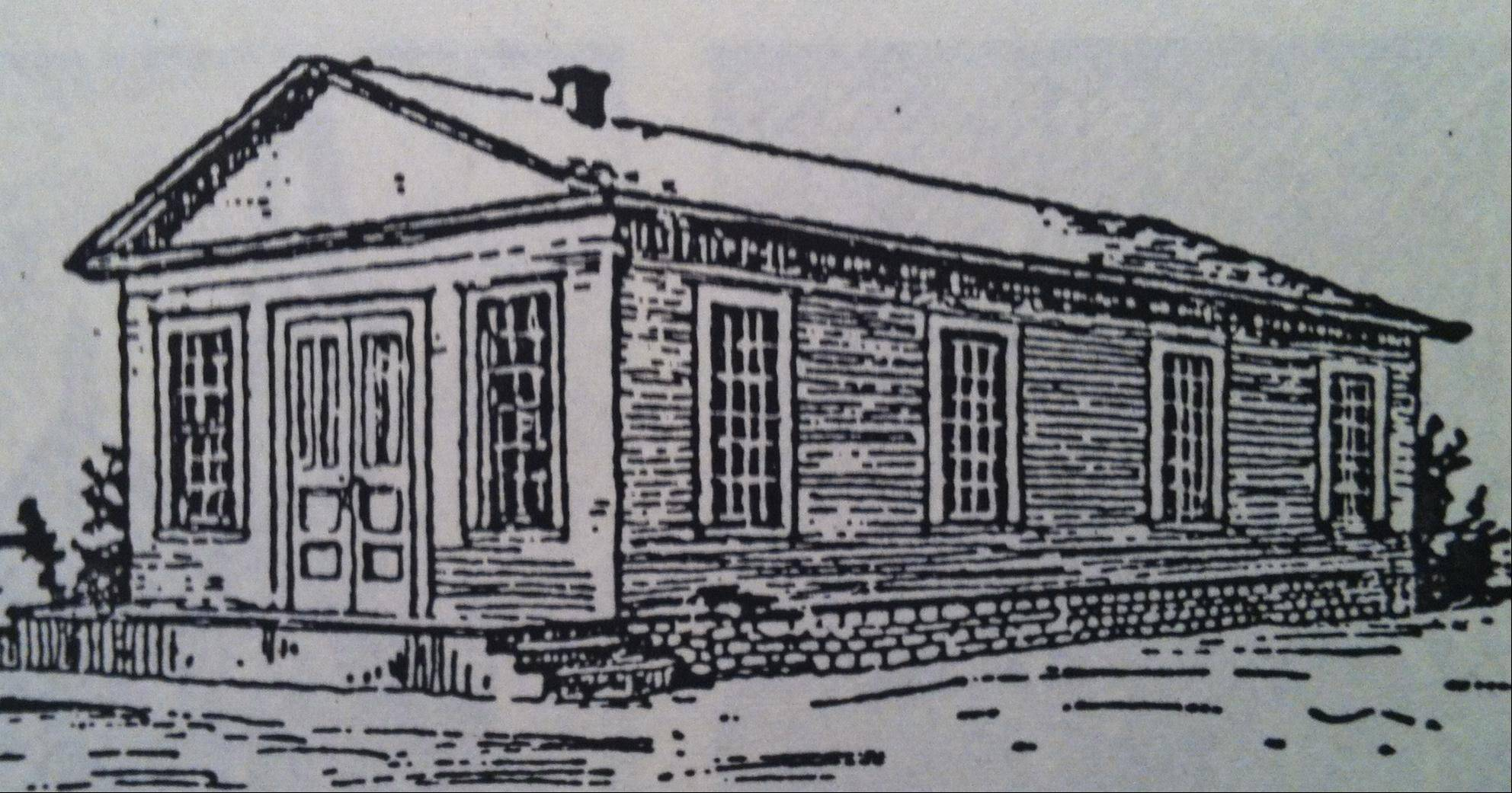 This small church, built in the late 1830s on the same site as the current First United Methodist building, served as the congregation's first permanent home.