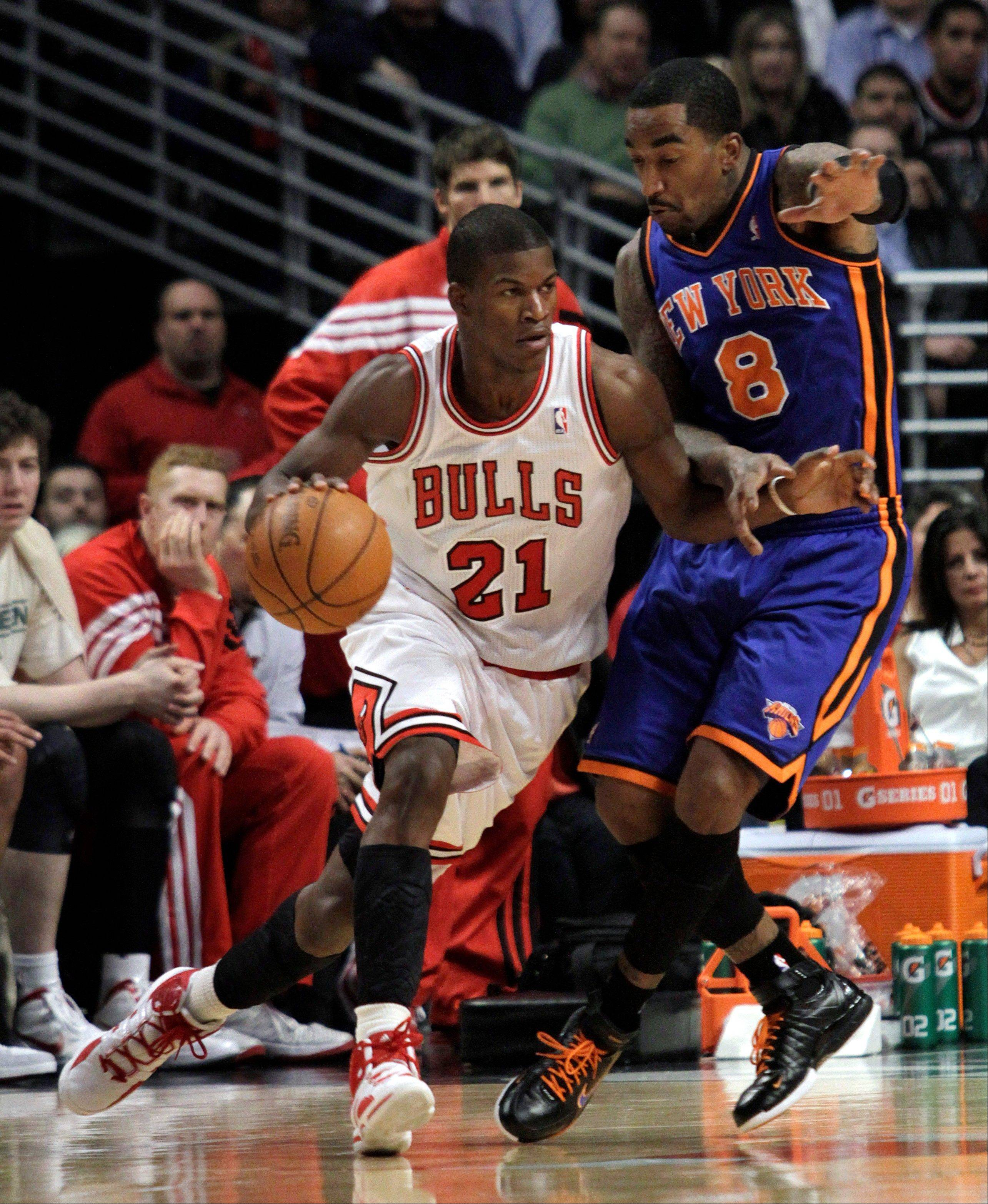 Bulls forward Jimmy Butler, seen here during his rookie season, should see an expanded role this season. But it comes with the departure of close friend Ronnie Brewer to the Knicks.
