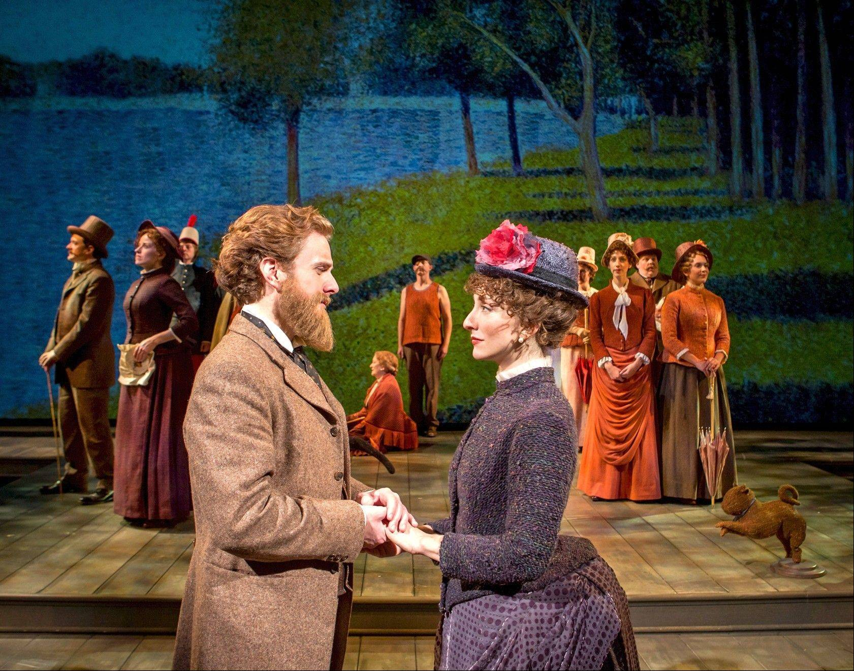 "Jason Danieley plays painter Georges Seurat and Carmen Cusack plays Dot, his mistress and muse, in Chicago Shakespeare Theater's superb revival of the Stephen Sondheim-James Lapine masterwork, ""Sunday in the Park with George,"" inspired by Seurat's masterwork, ""A Sunday on La Grande Jatte."""