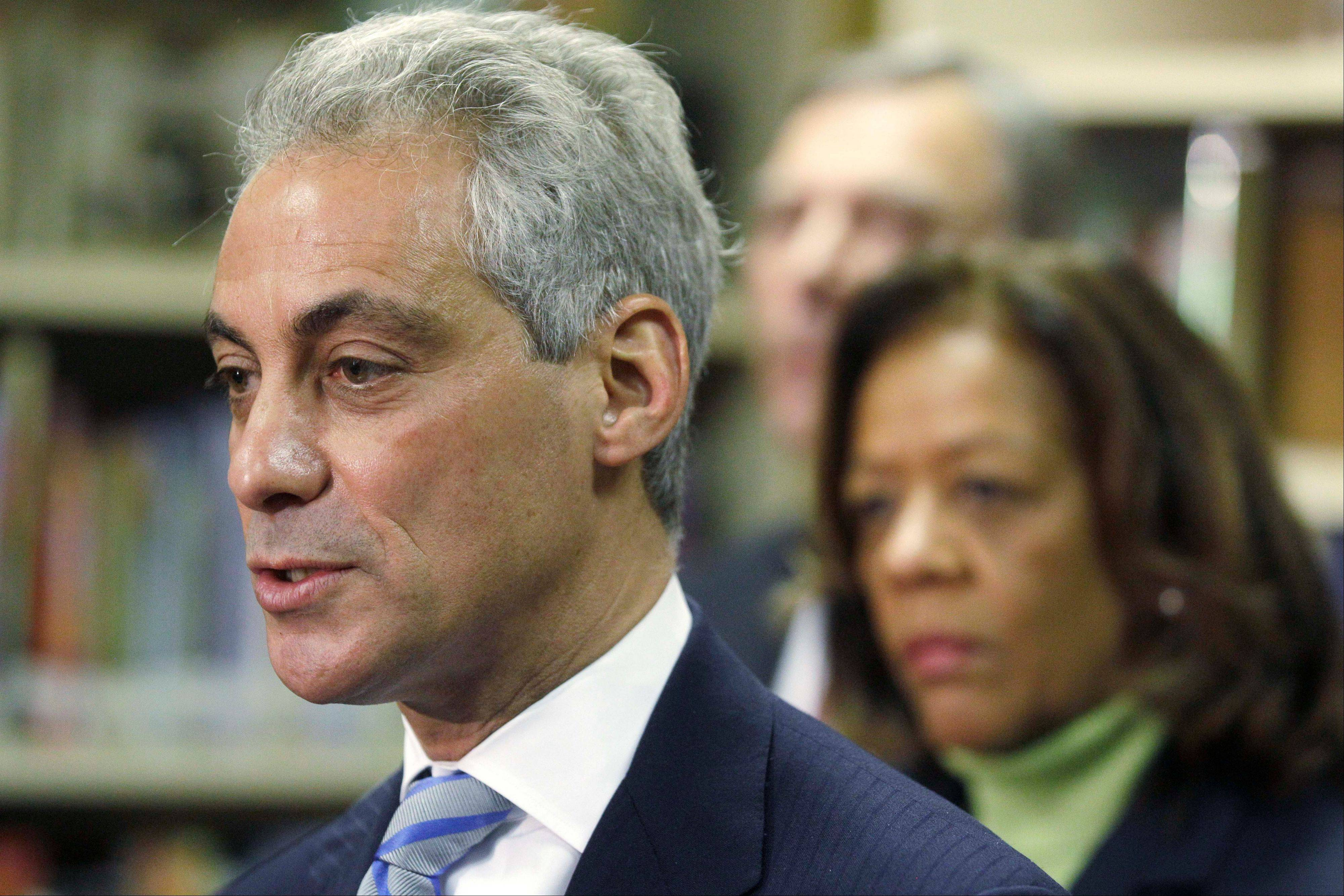 Chicago Mayor Rahm Emanuel introduces newly appointed Chicago Public Schools CEO Barbara Byrd-Bennett at a news conference Friday in Chicago.