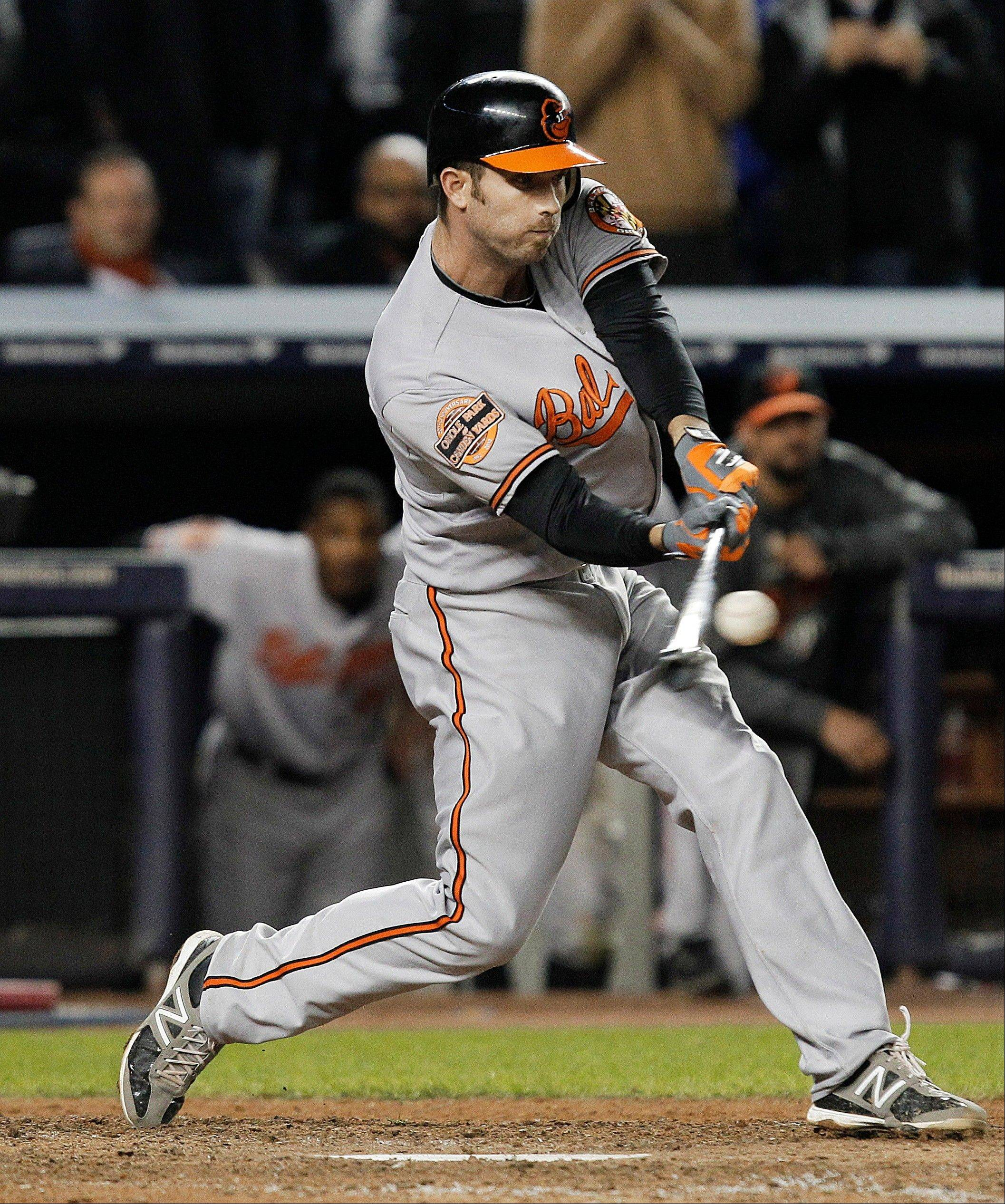 J.J. Hardy hit an RBI double in the 13th inning and Baltimore bounced back from a demoralizing loss to outlast the Yankees 2-1 Thursday night, forcing a deciding Game 5 in the AL division series.