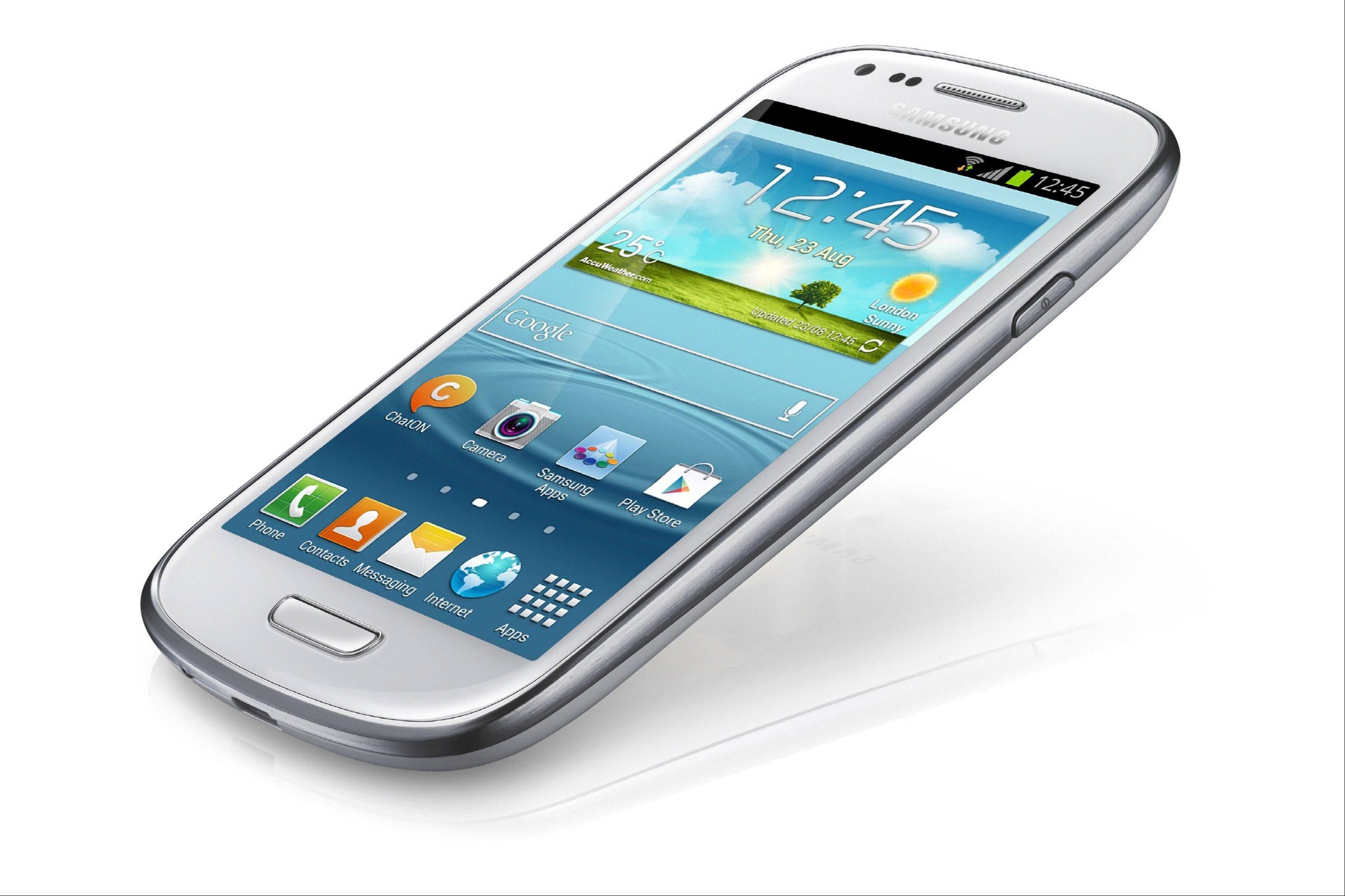 Samsung's Galaxy S III mini. South Korean technology giant Samsung says the Galaxy S III mini features a screen measuring 4 inches diagonally, smaller than the Galaxy S III's 4.8 inch display but the same as Apple's iPhone 5, which was Apple's first upgrade of the iPhone screen size.
