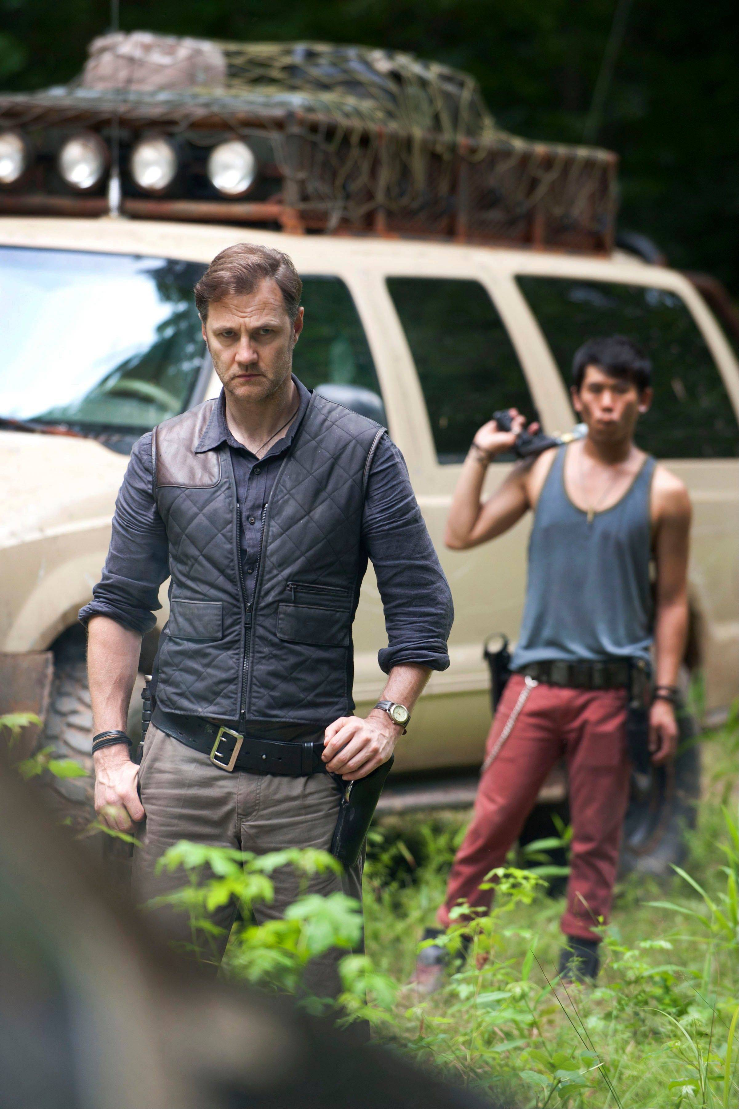 "Evading the zombies puts the survivors in the sights of The Governor (David Morrissey) as AMC's ""The Walking Dead"" returns Sunday at 8 p.m."