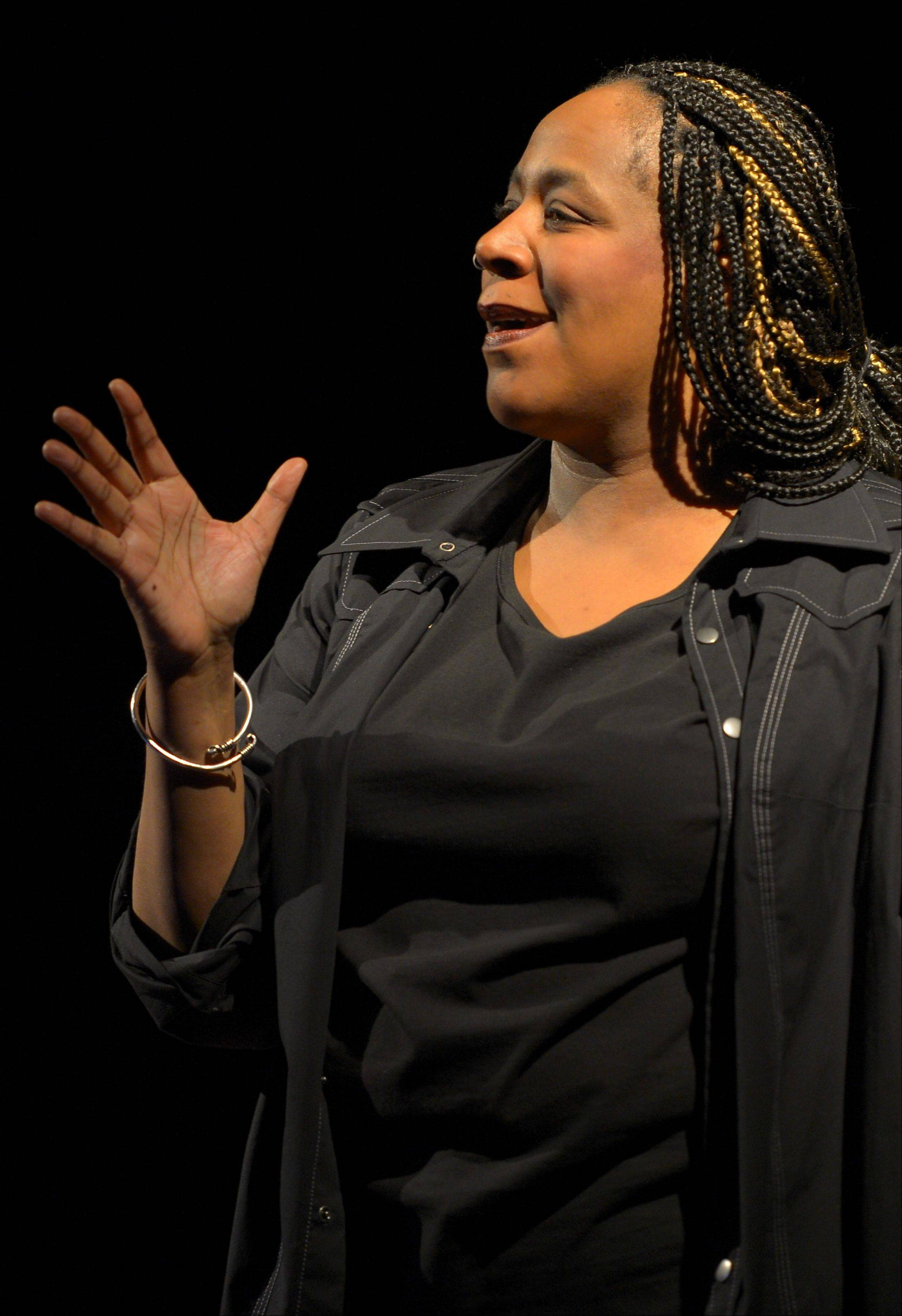 "Playwright/poet/performer Dael Orlandersmith plays young boys and men nearly undone by abuse in her solo play ""Black n Blue Boys/Broken,"" a co-commission between Goodman and Berkeley Repertory theaters."