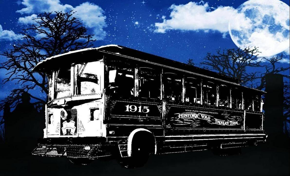 Hop aboard a Haunted Trolley Tour in Volo.
